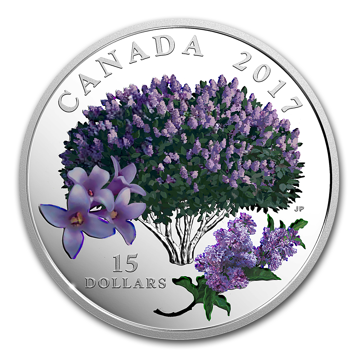 2017 Canada 3/4 oz Ag $15 Celebration of Spring: Lilac Blossoms