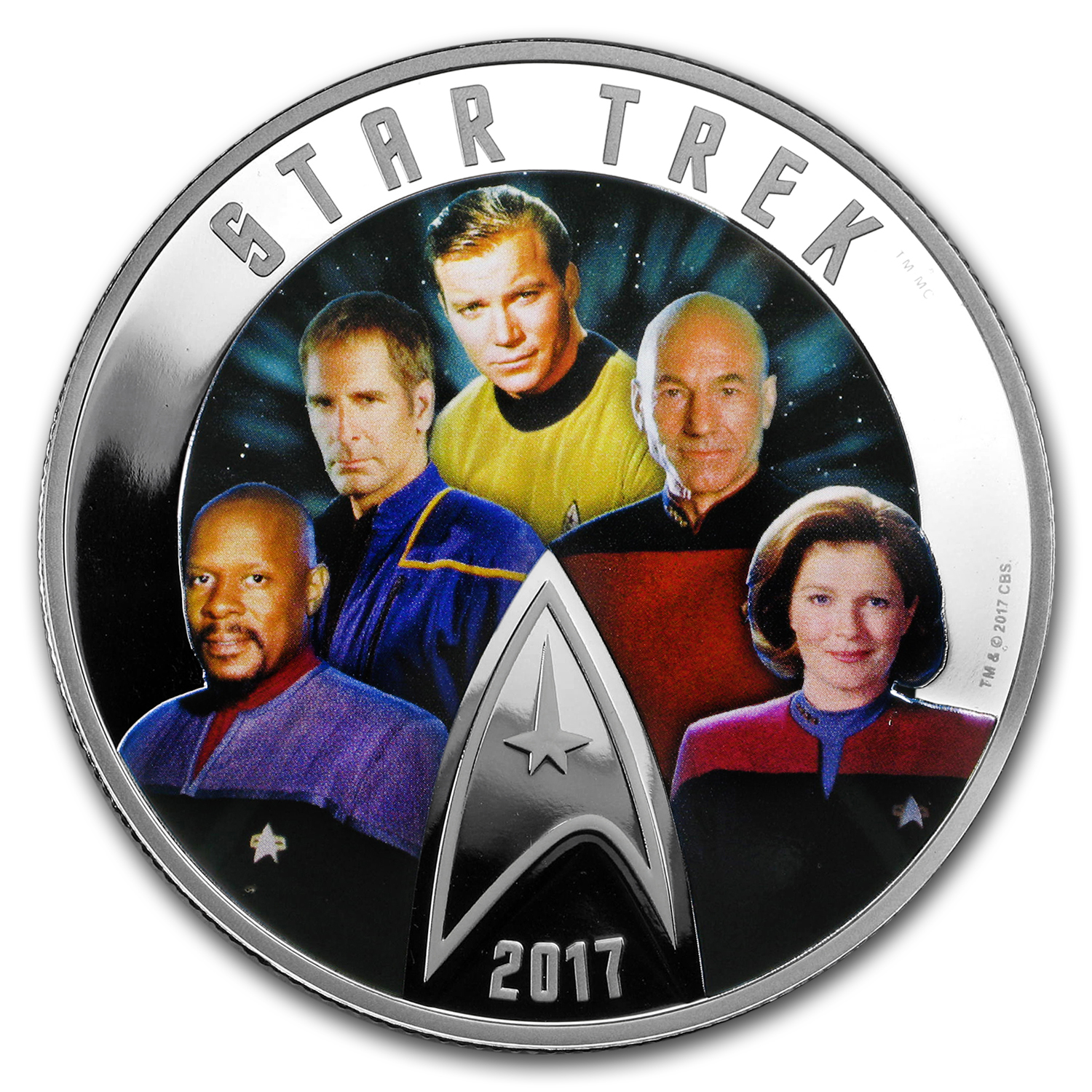 2017 Canada 2 oz Silver Proof $30 Star Trek: Five Captains
