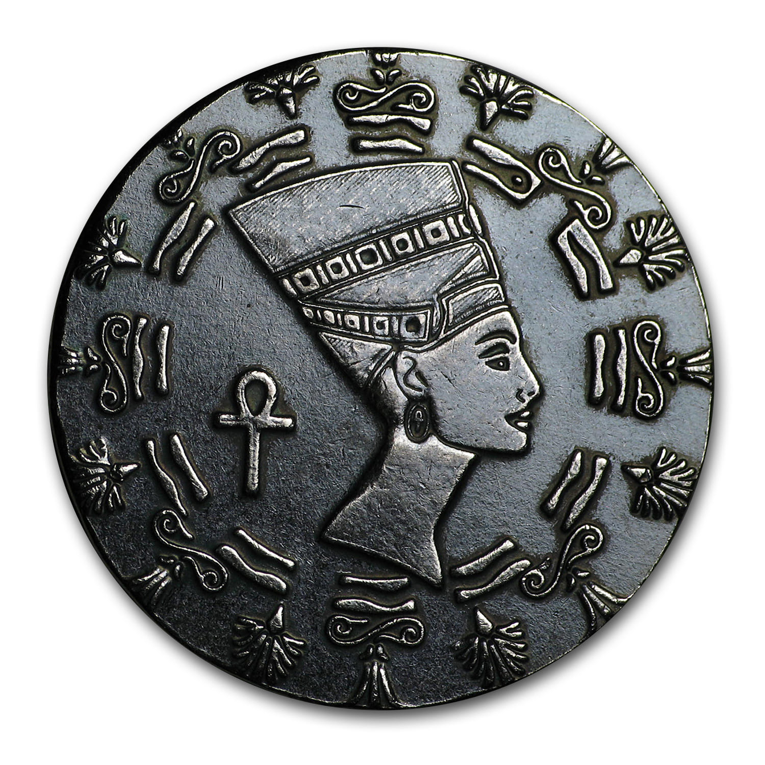 1/10 oz Silver Round - Monarch Precious Metals (Queen Nefertiti)