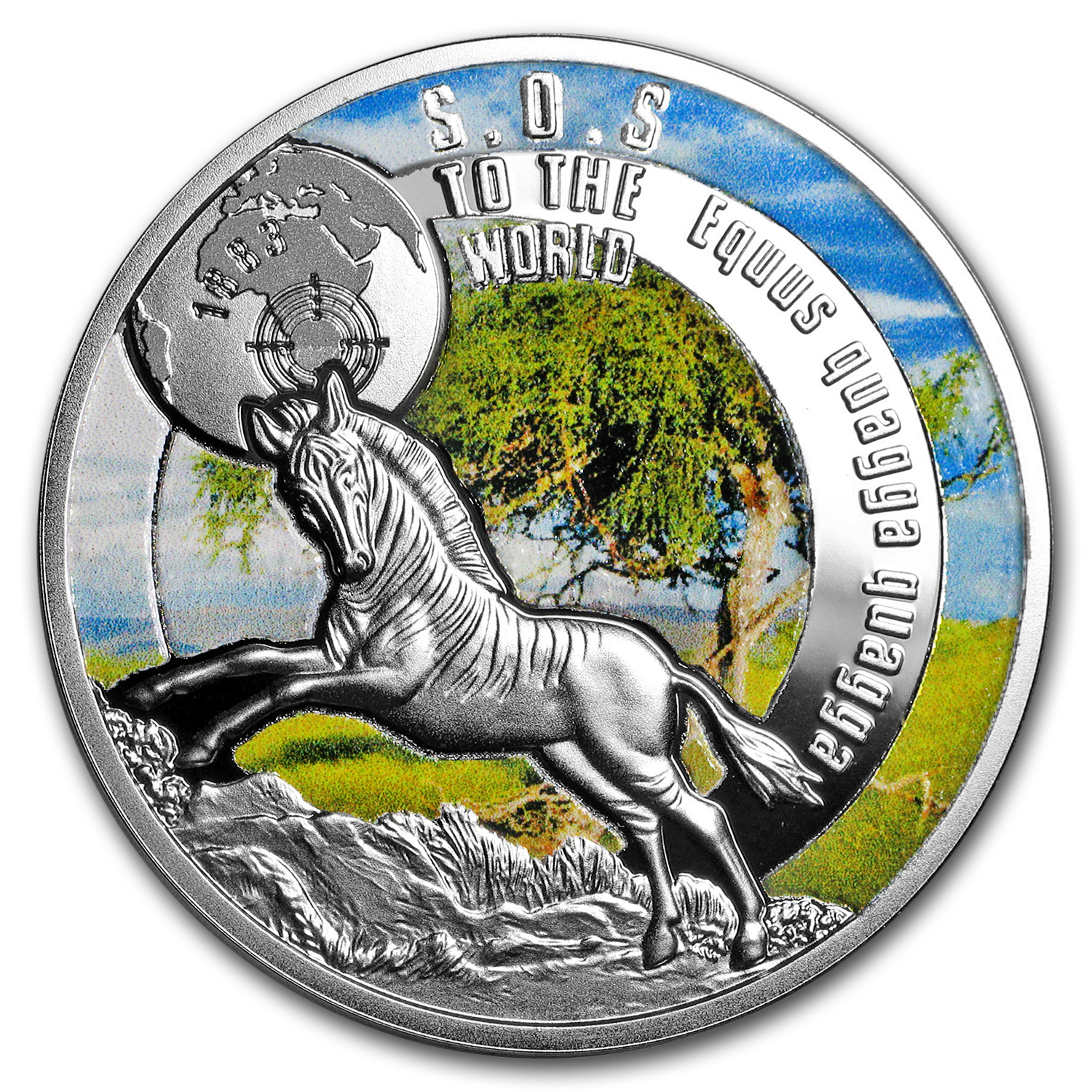 2017 Niue Silver SOS For The World They are Gone! (Quagga)