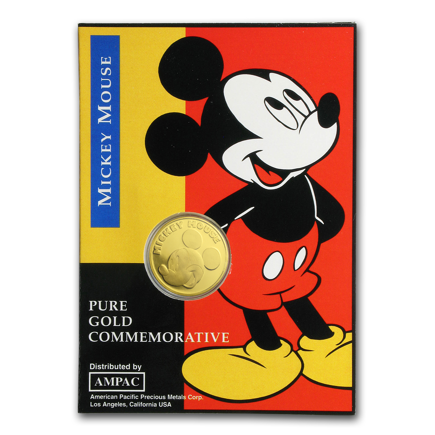 1/10 oz Gold Round - Mickey Mouse (Original Packaging)