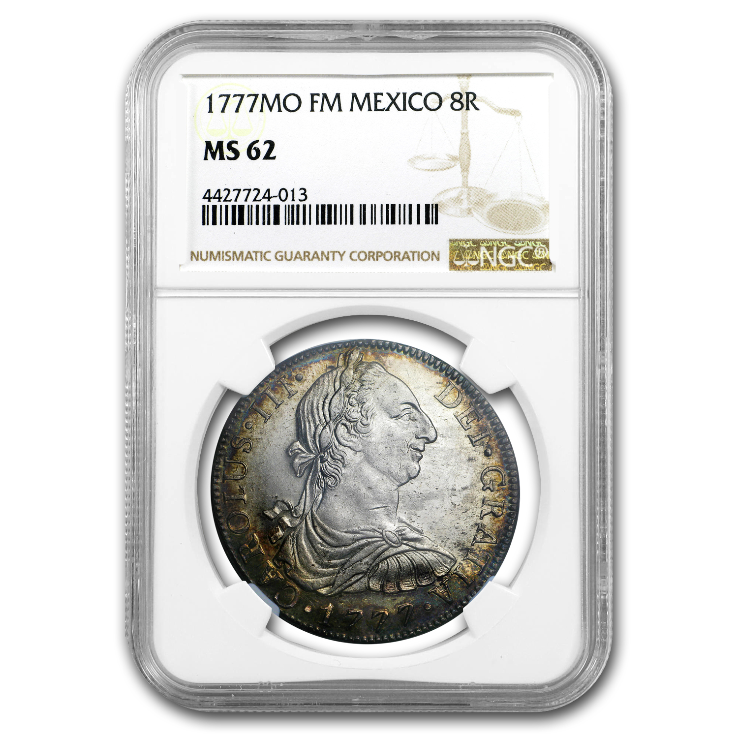 1777 Mo-FM Mexico Silver 8 Reales Charles III MS-62 NGC