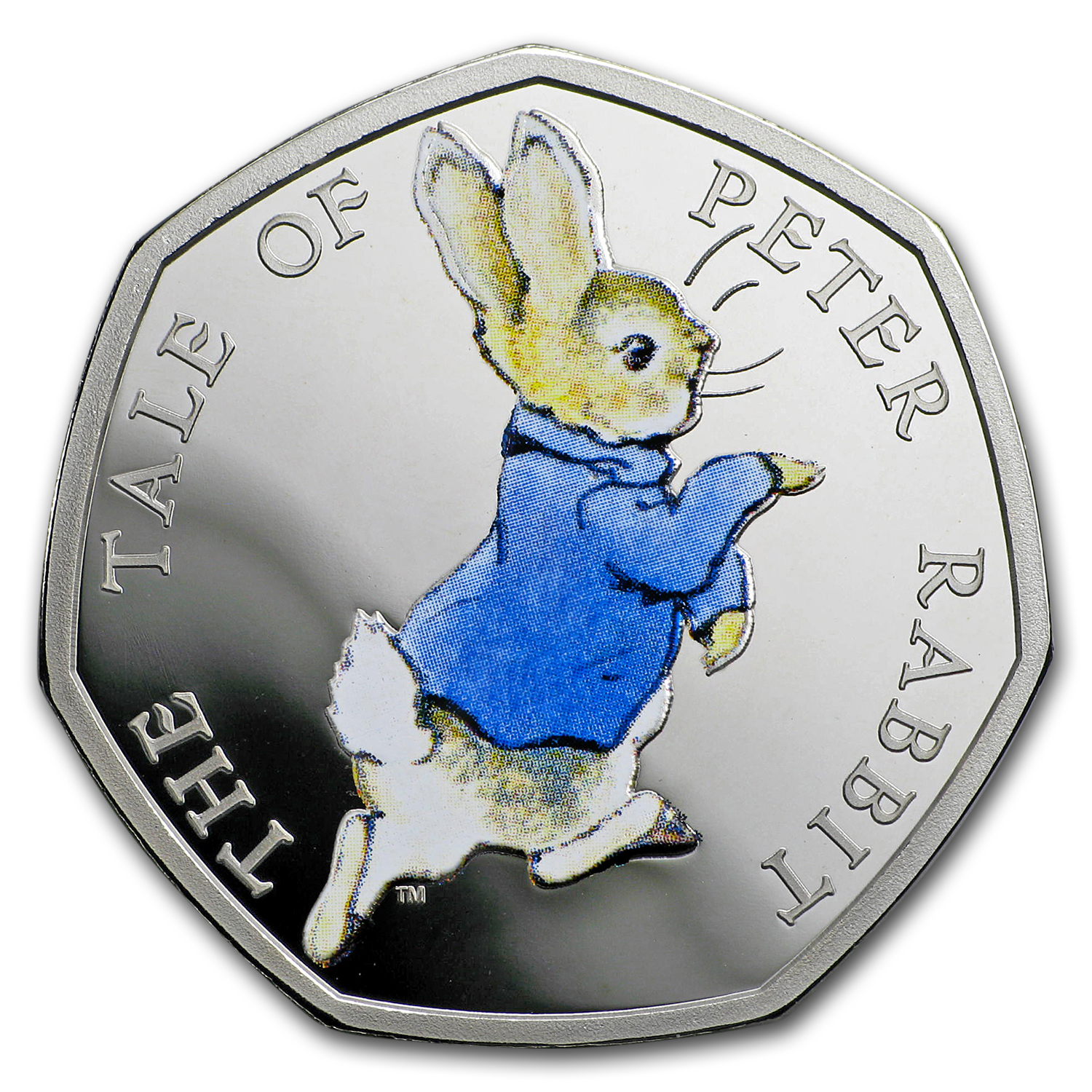 2017 Great Britain Silver 50 p Beatrix Potter Prf (Peter Rabbit)