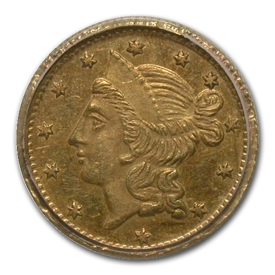 1856 Liberty Round 50¢ Gold MS-62 PCGS (BG-434)
