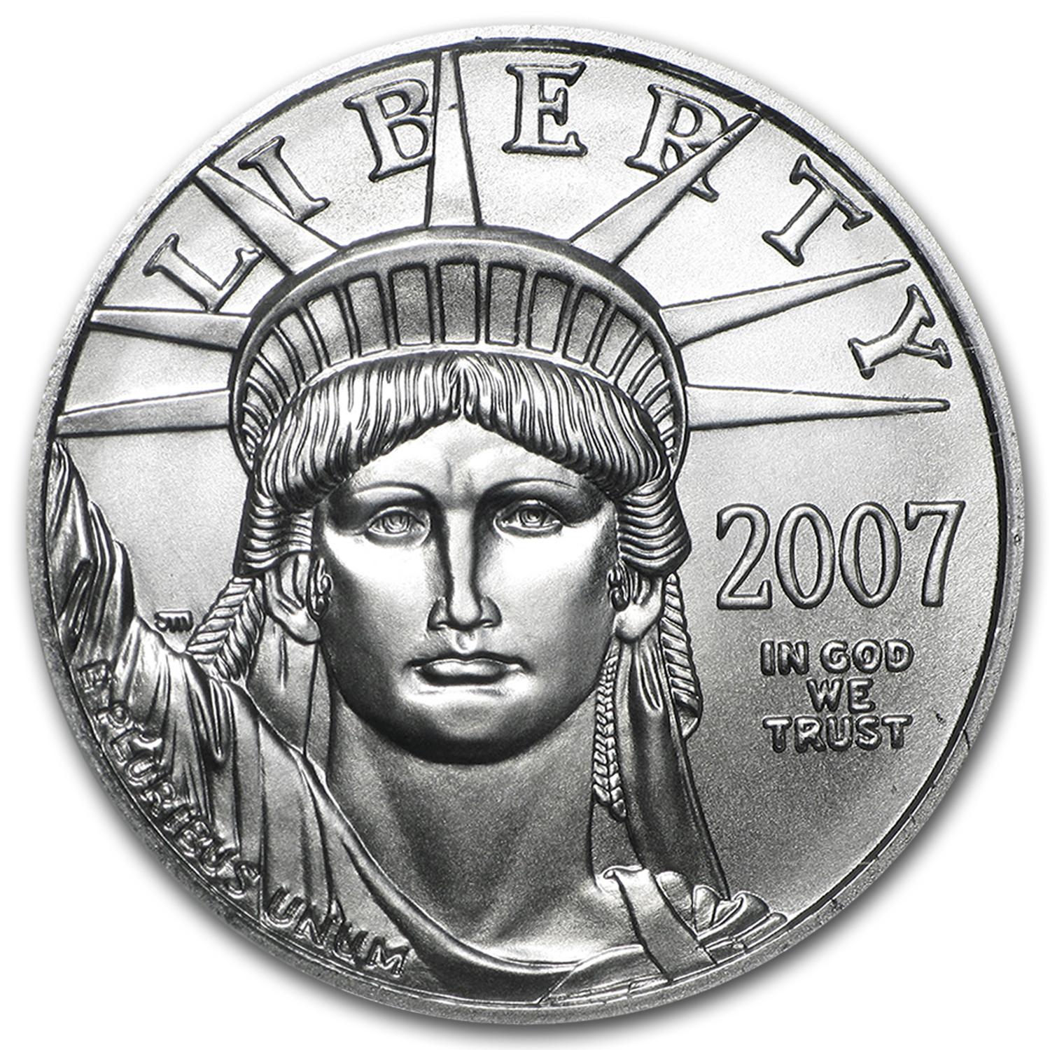 2007 1/2 oz Platinum American Eagle BU