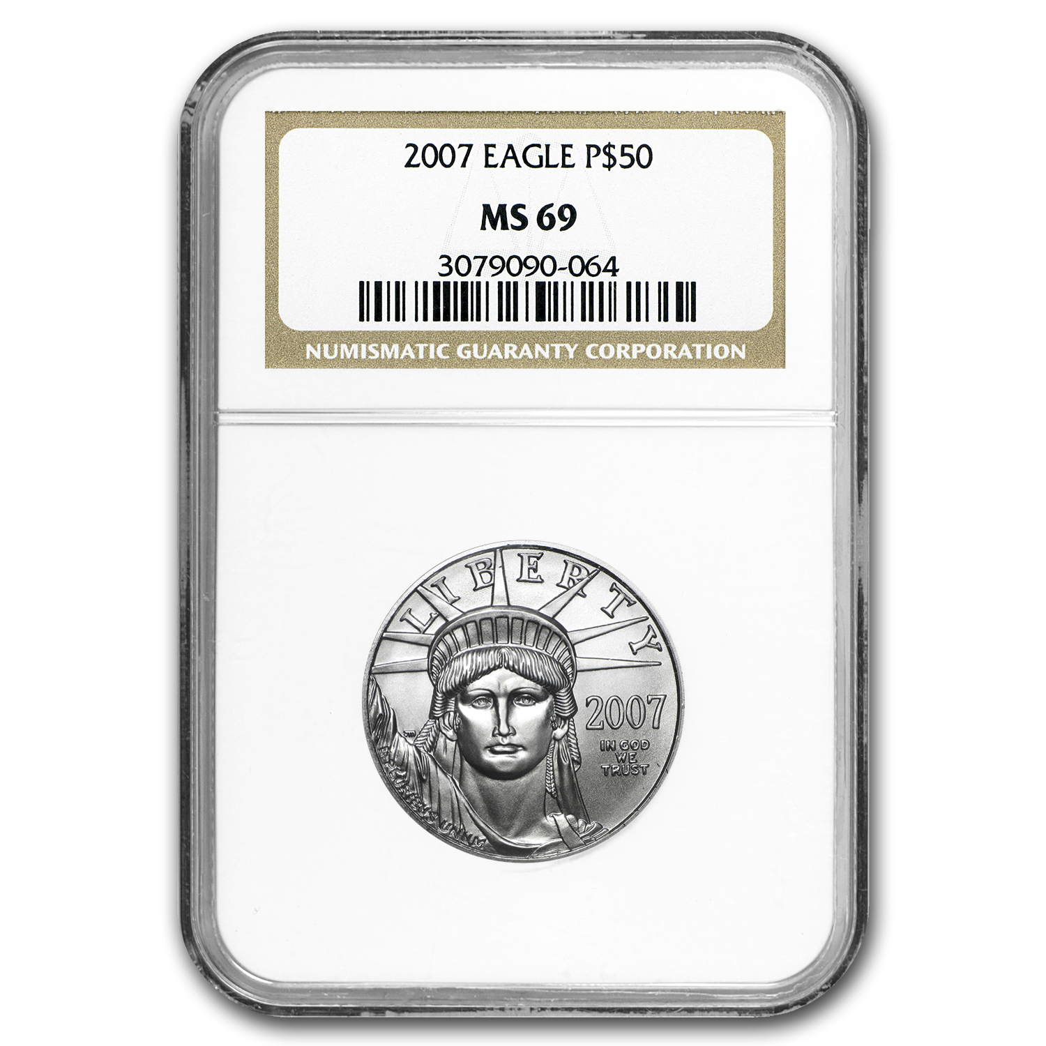 2007 1/2 oz Platinum American Eagle MS-69 NGC