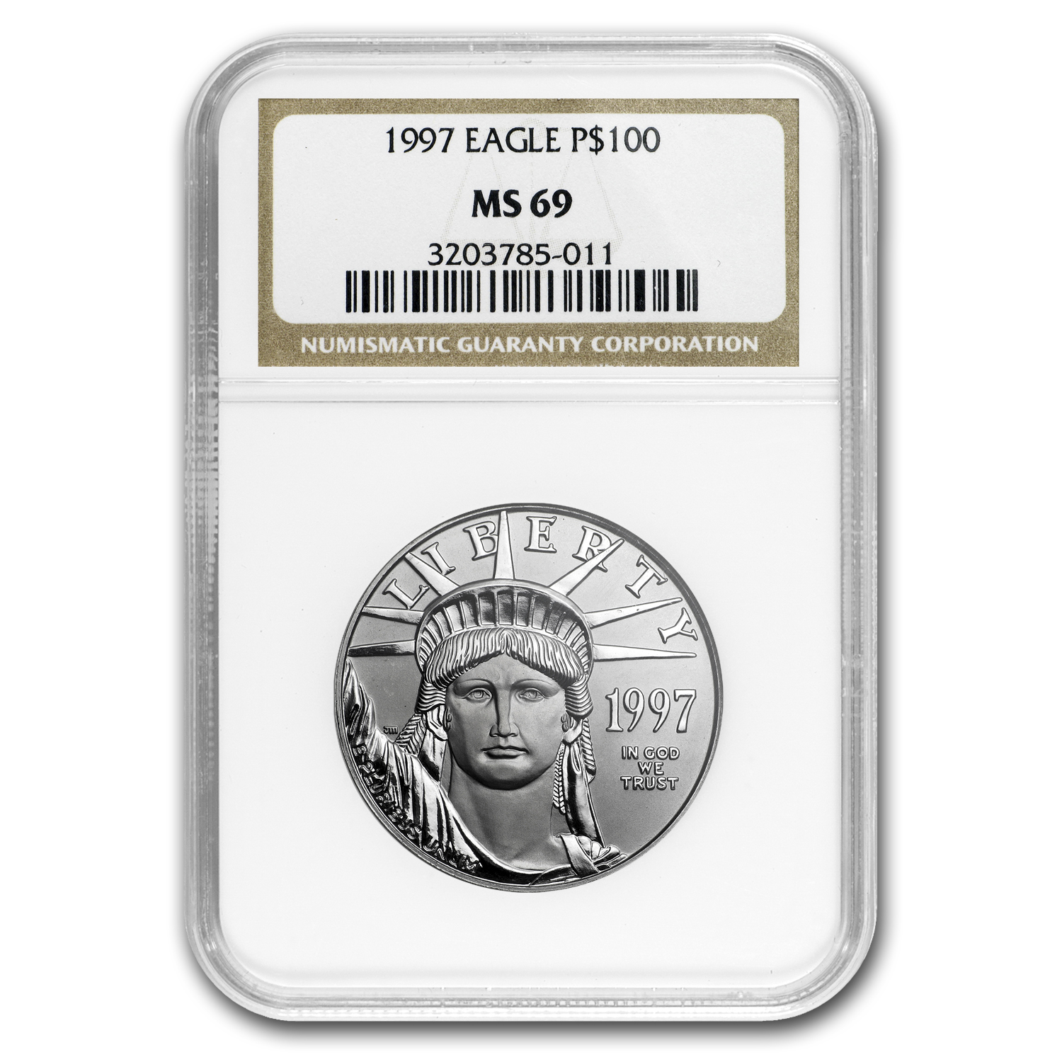1997 1 oz Platinum American Eagle MS-69 NGC
