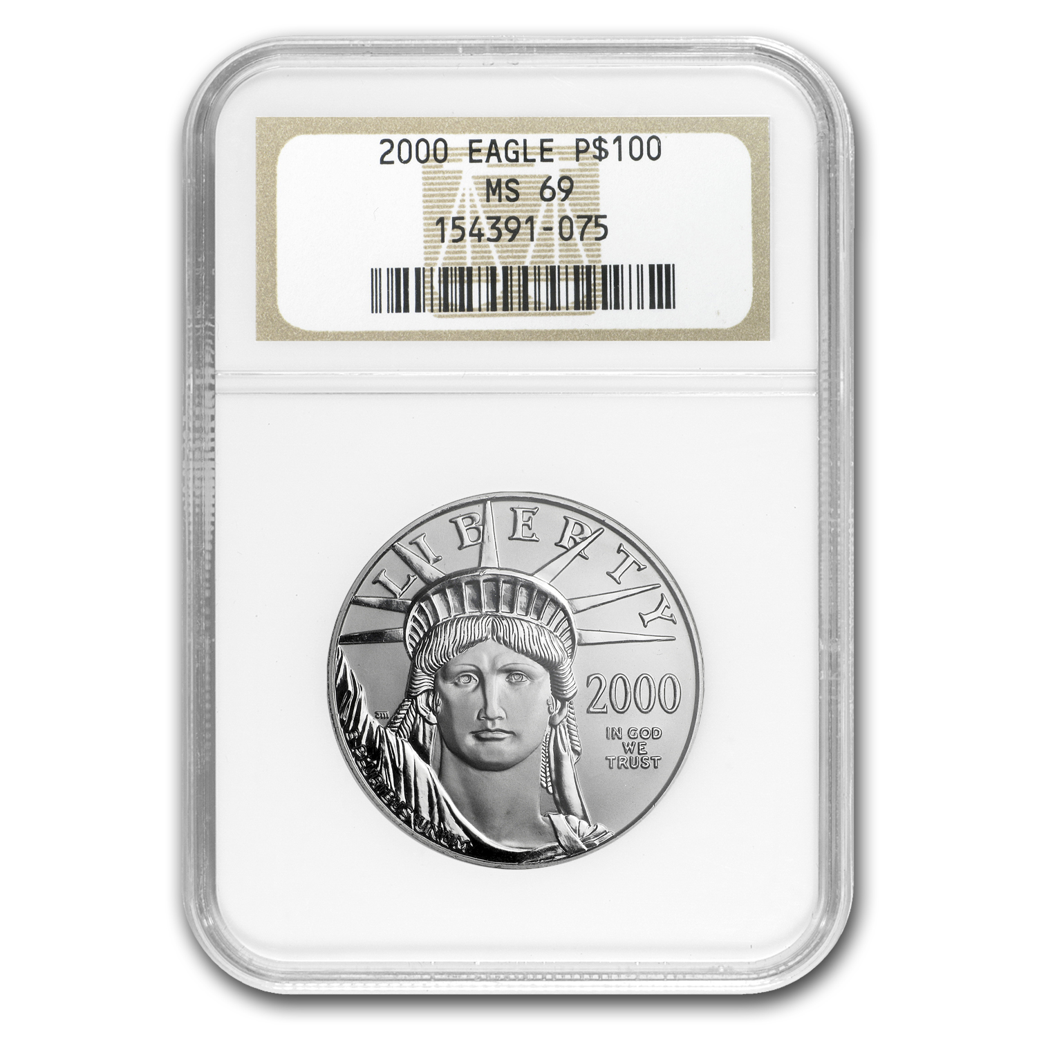 2000 1 oz Platinum American Eagle MS-69 NGC