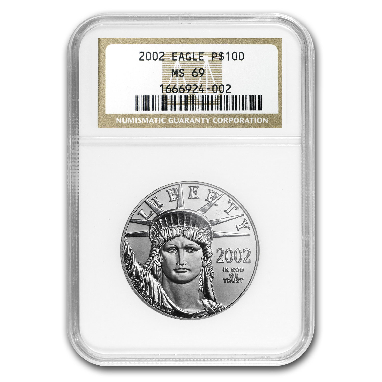 2002 1 oz Platinum American Eagle MS-69 NGC