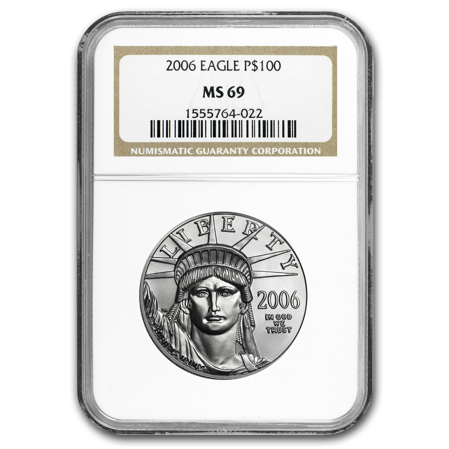 2006 1 oz Platinum American Eagle MS-69 NGC