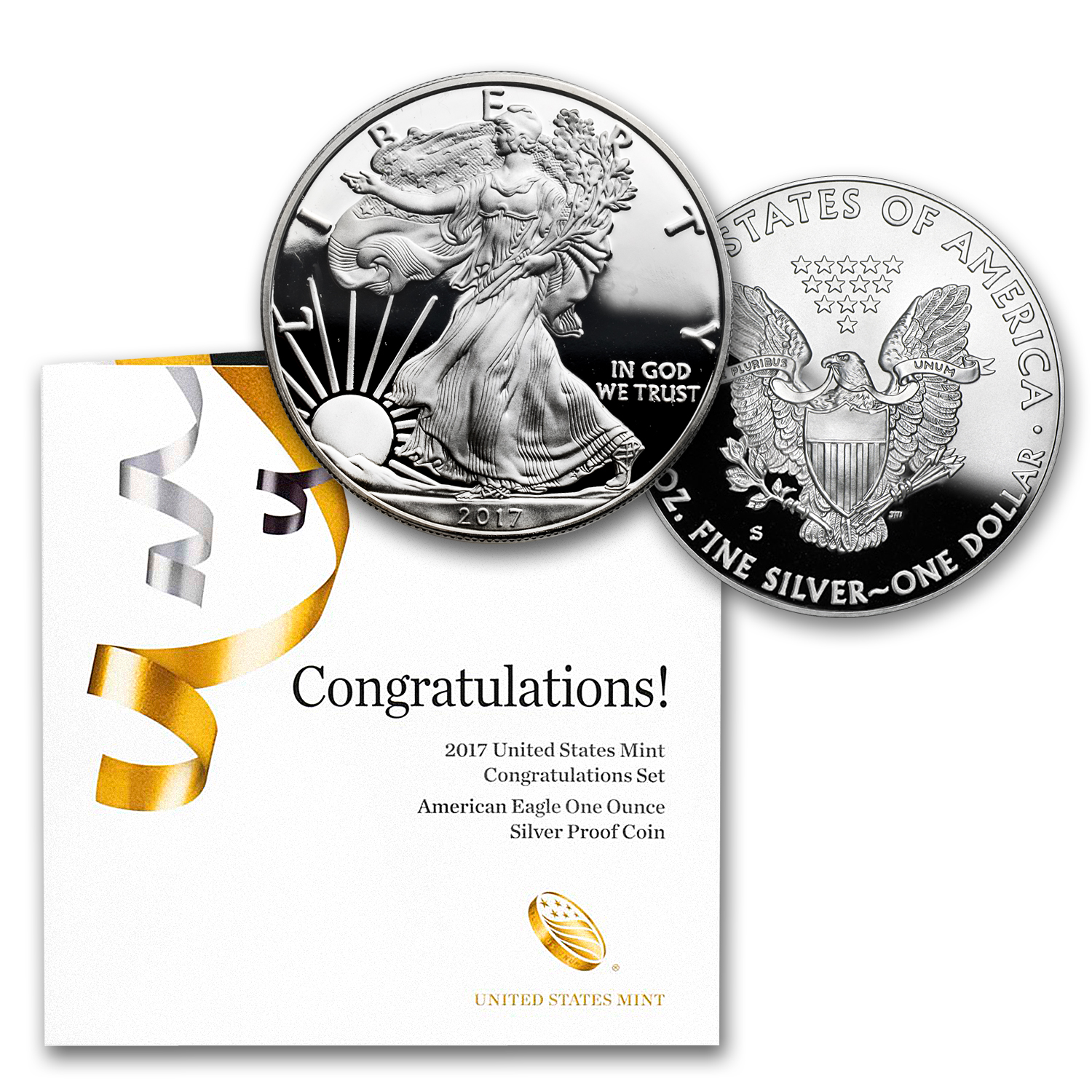 2017-S 1 oz Proof Silver American Eagle (Congratulations Set)