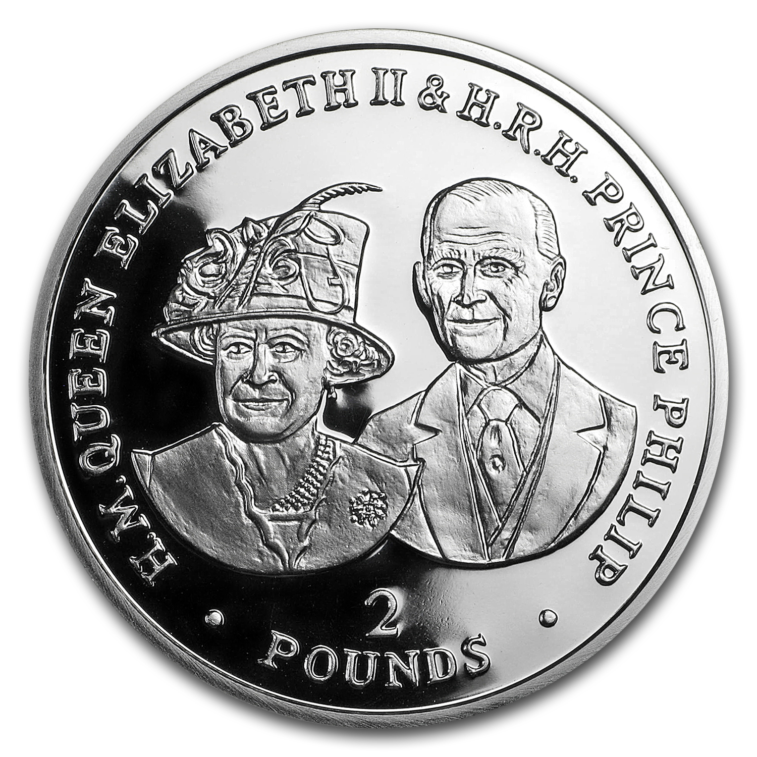 2017 BIOT Silver £2 Royal Couple (Queen's 80th Birthday)