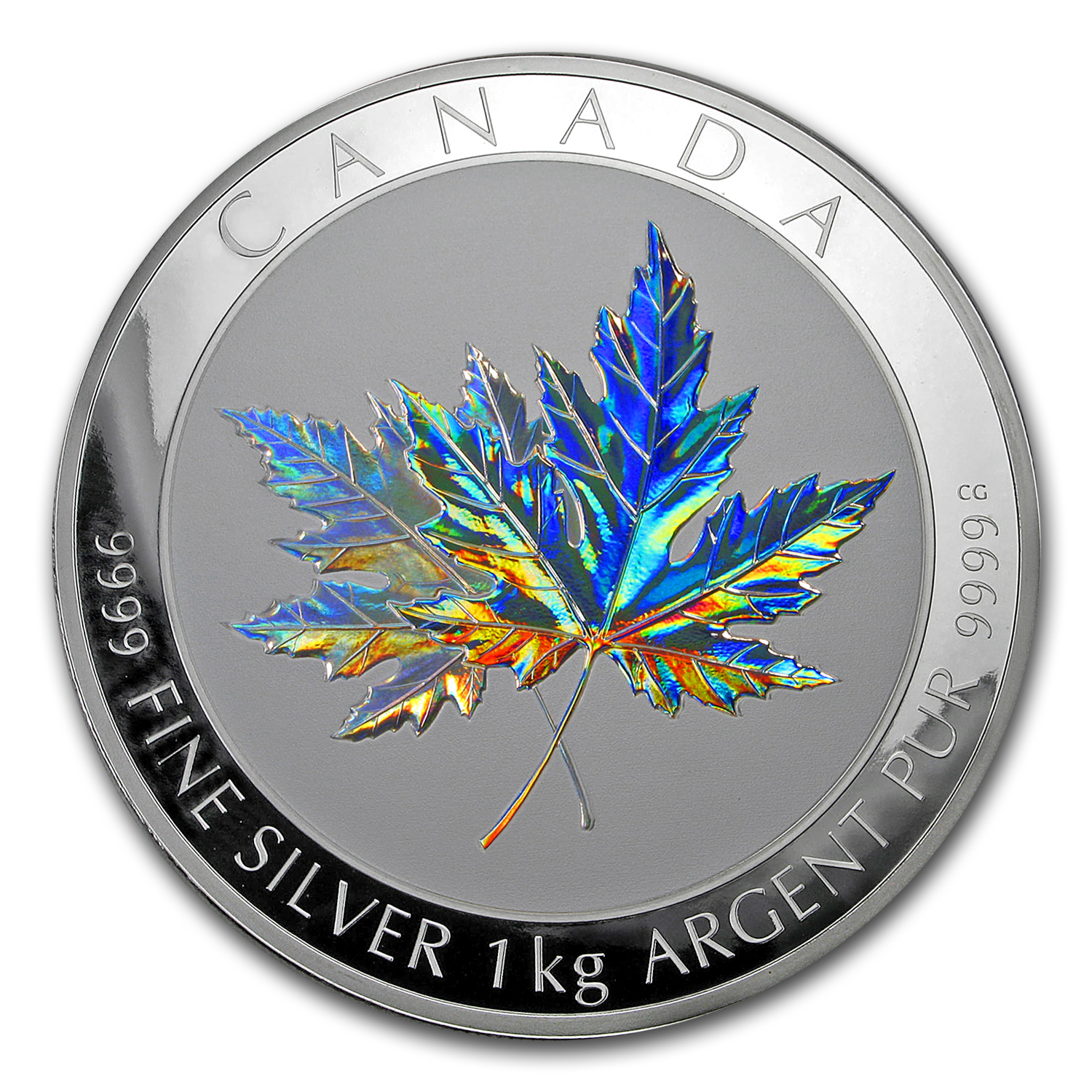 2015 Canada 1 kilo Silver $250 Maple Leaf Forever (Capsule Only)