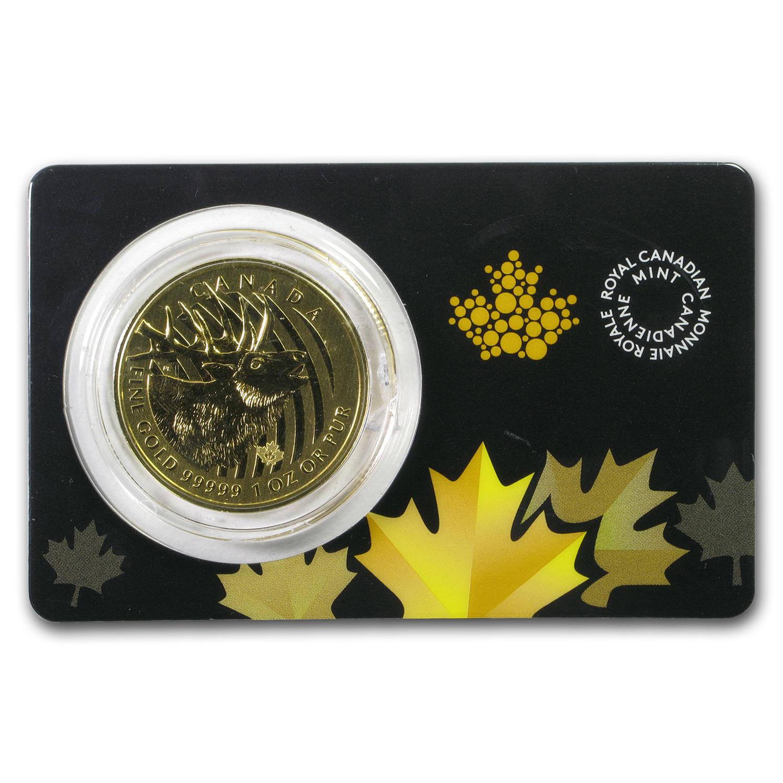 2017 Canada 1 Oz Gold Elk 99999 Bu Damaged Rcm 99999