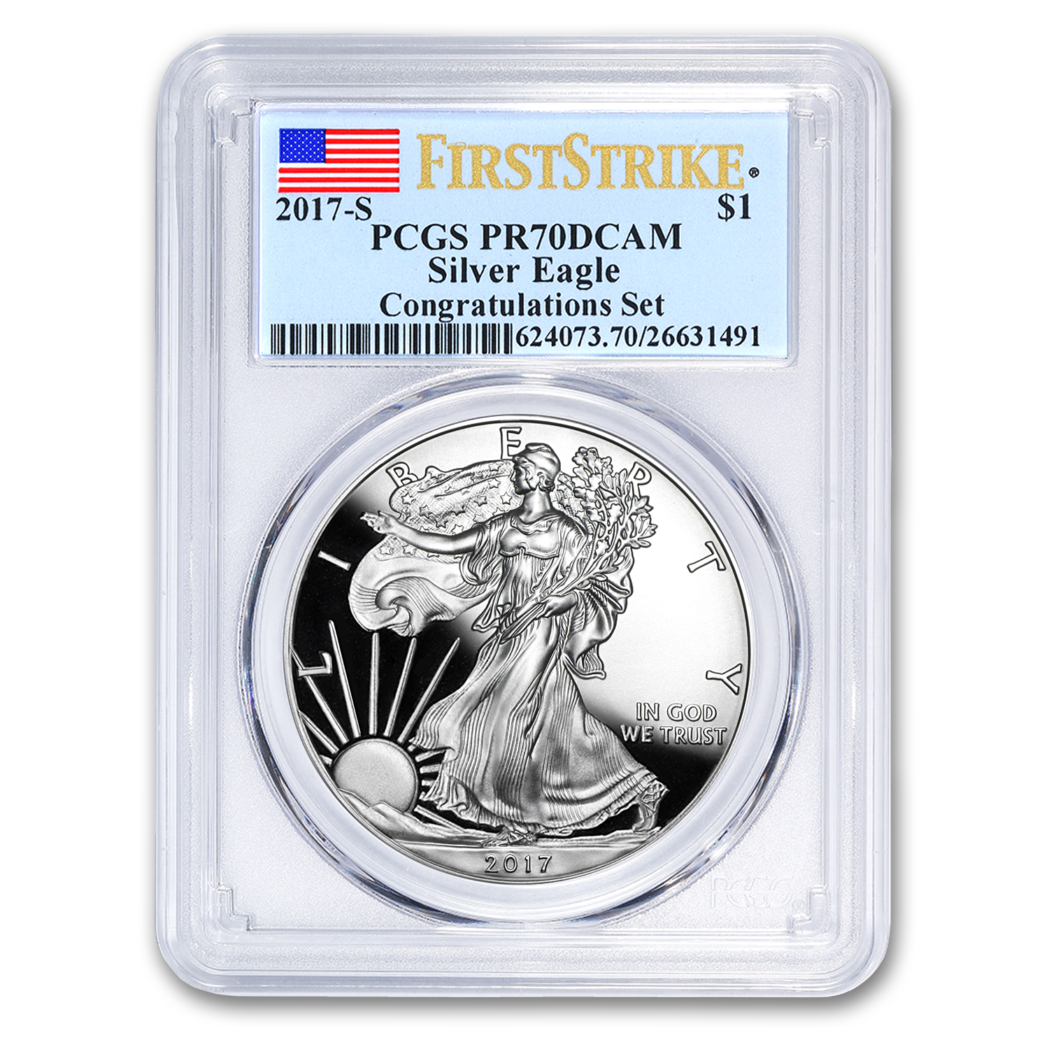2017-S Proof Silver American Eagle PR-70 PCGS (First Strike)