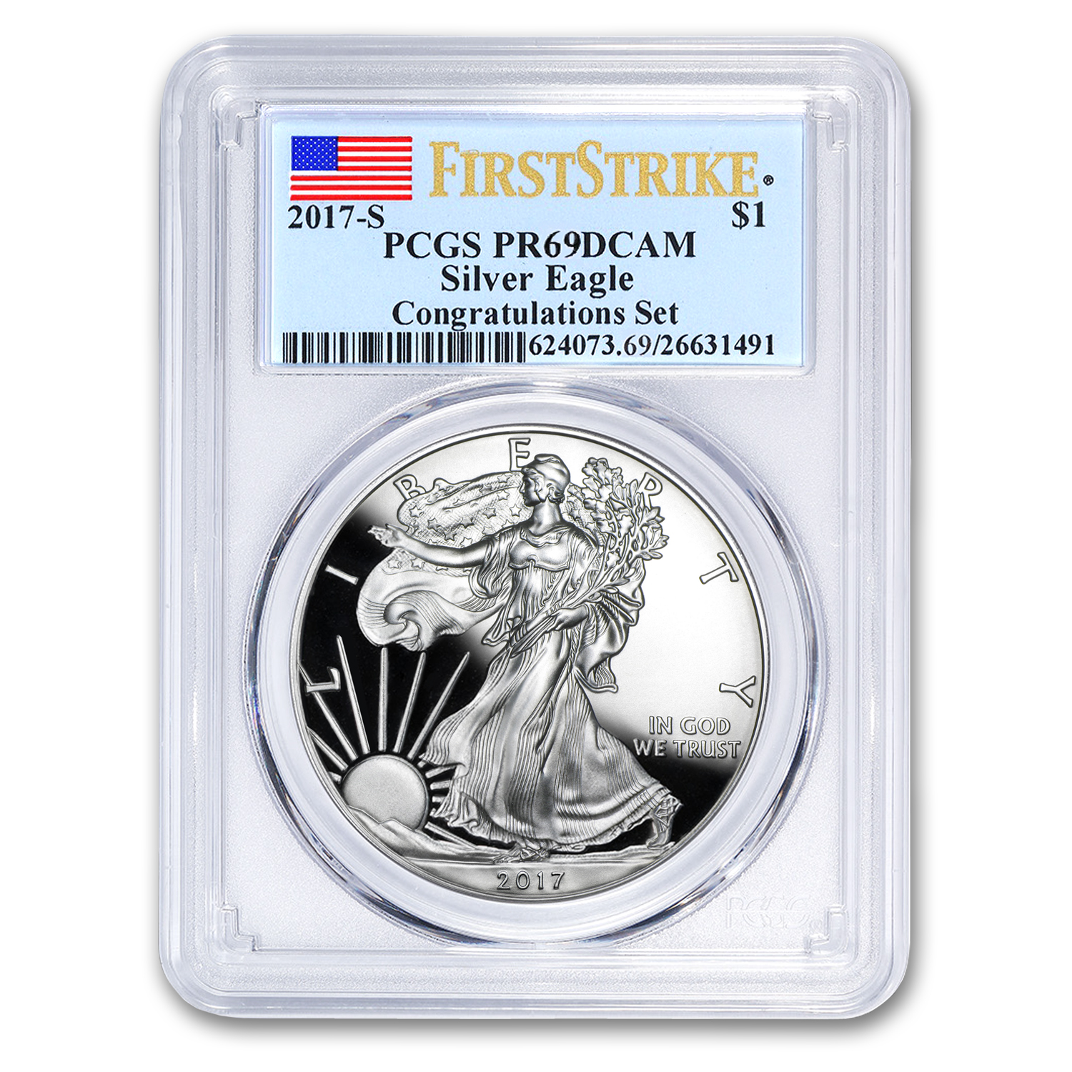 2017-S Proof Silver American Eagle PR-69 PCGS (First Strike)