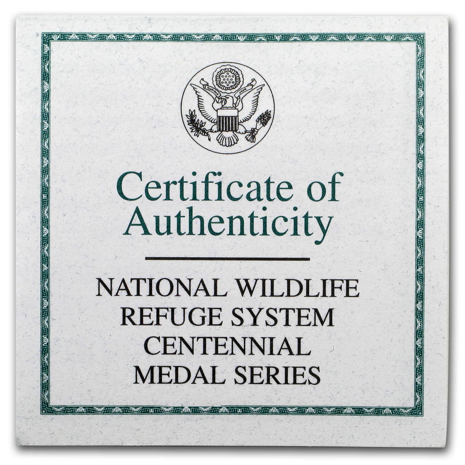 OGP Box & COA - 2003 National Wildlife Refuge System Medal Proof