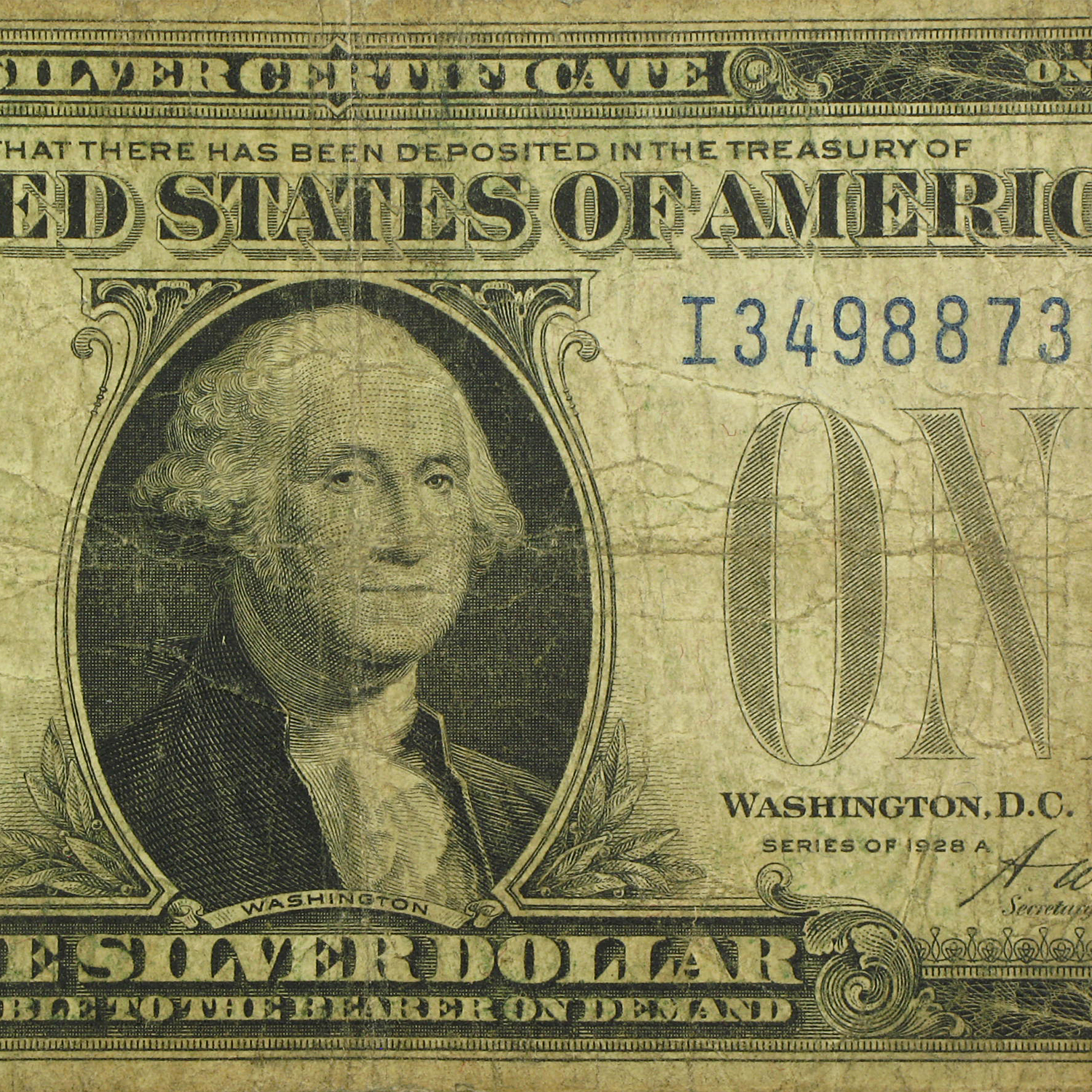 1928 $1.00 Silver Certificates (Very Good)