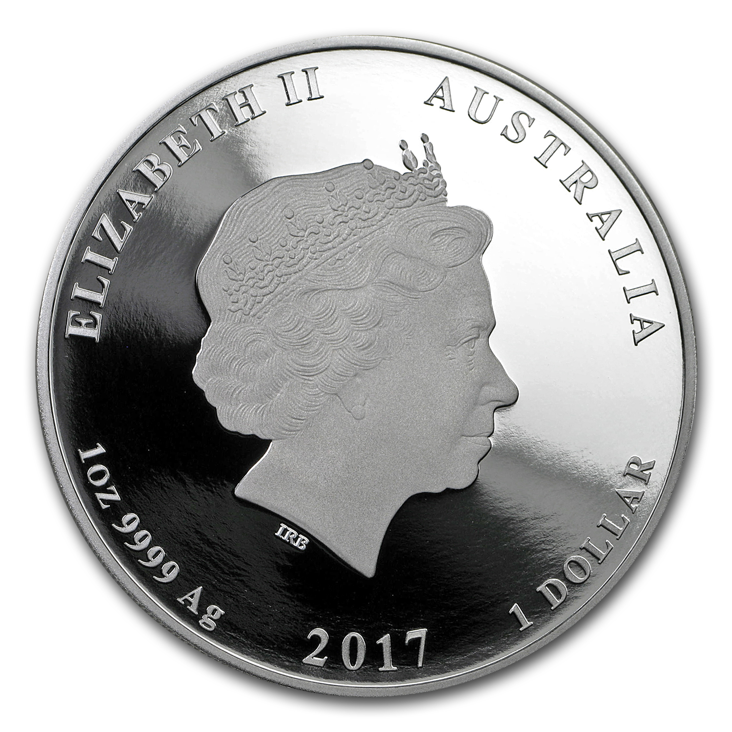 2017 Australia 1 oz Silver Lunar Rooster Proof (Colorized)