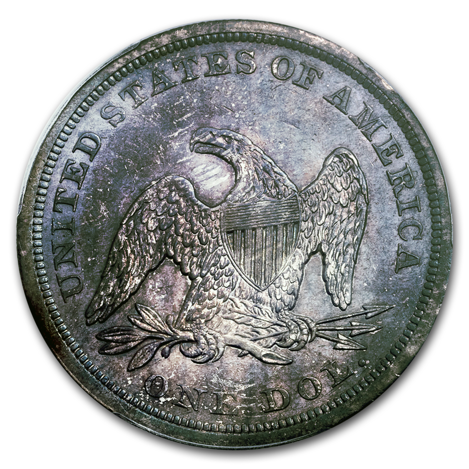 1843 Liberty Seated Dollar AU Details PCGS (Cleaned)