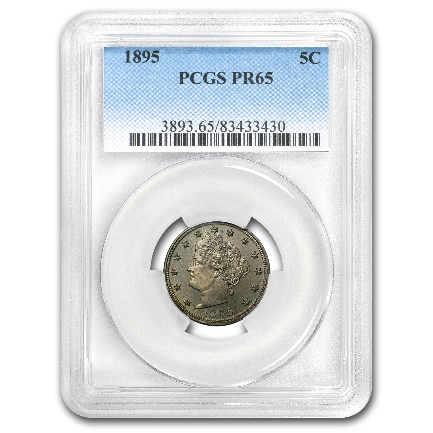 1895 Liberty Head V Nickel PR-65 PCGS