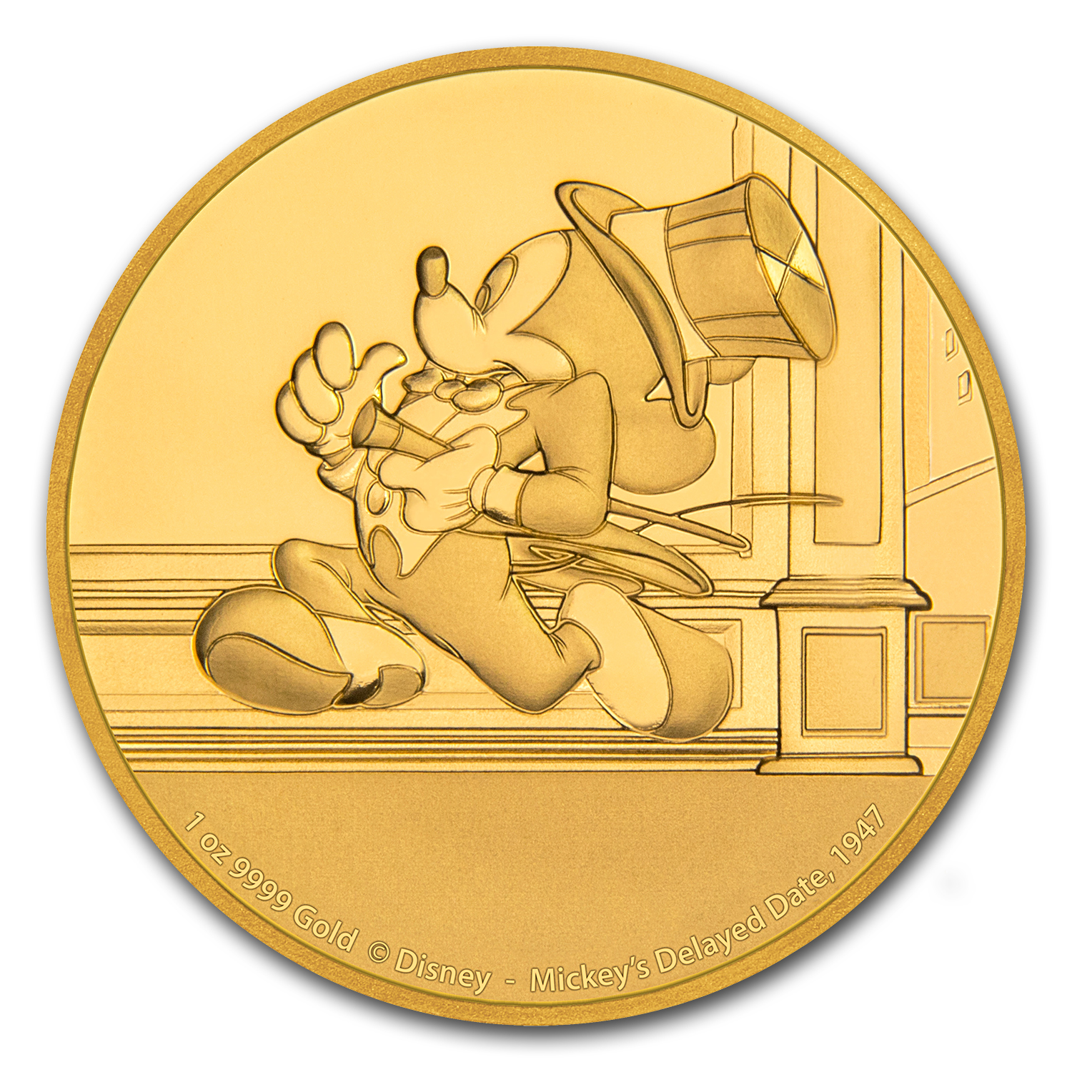 2017 1 oz Gold $250 Mickey Through the Ages Mickey's Delayed Date