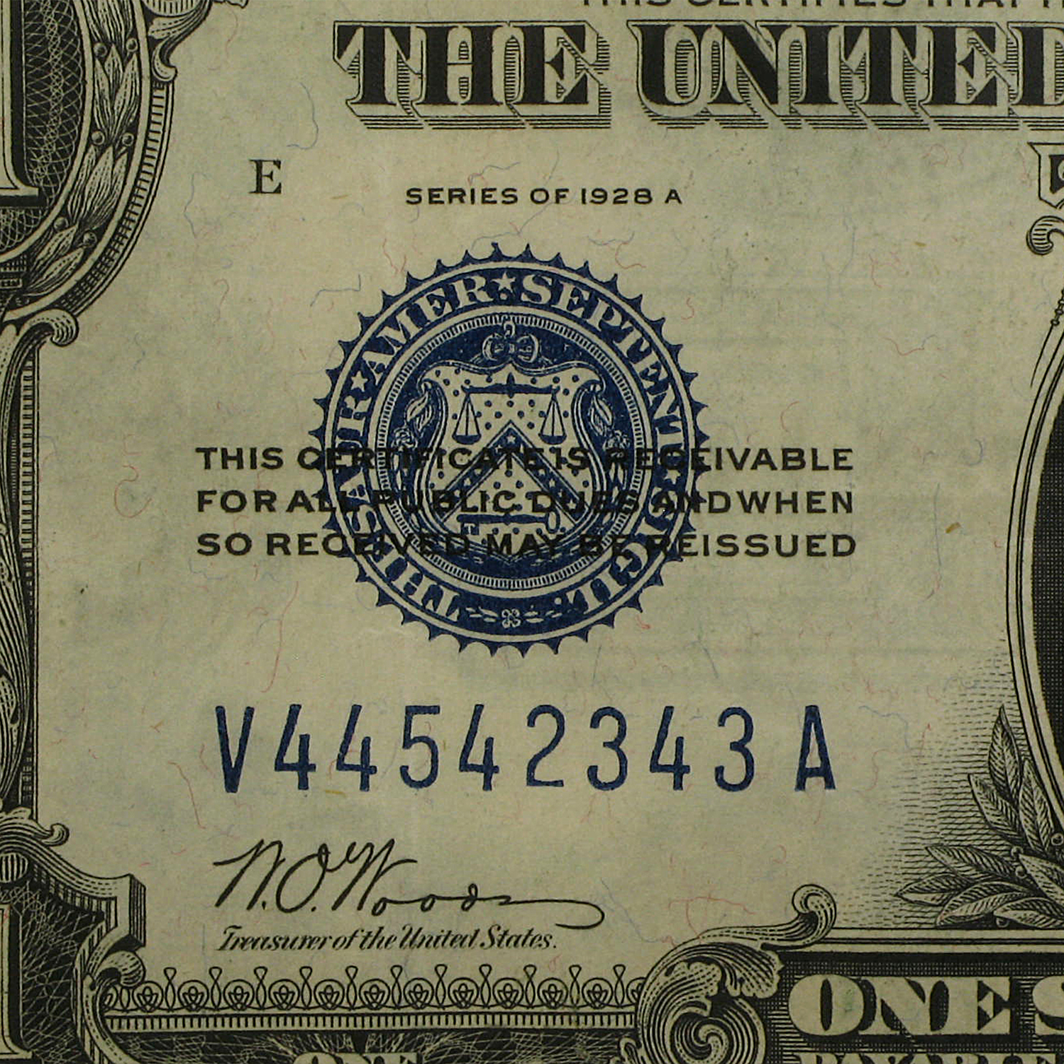 1928-A $1.00 Silver Certificates XF