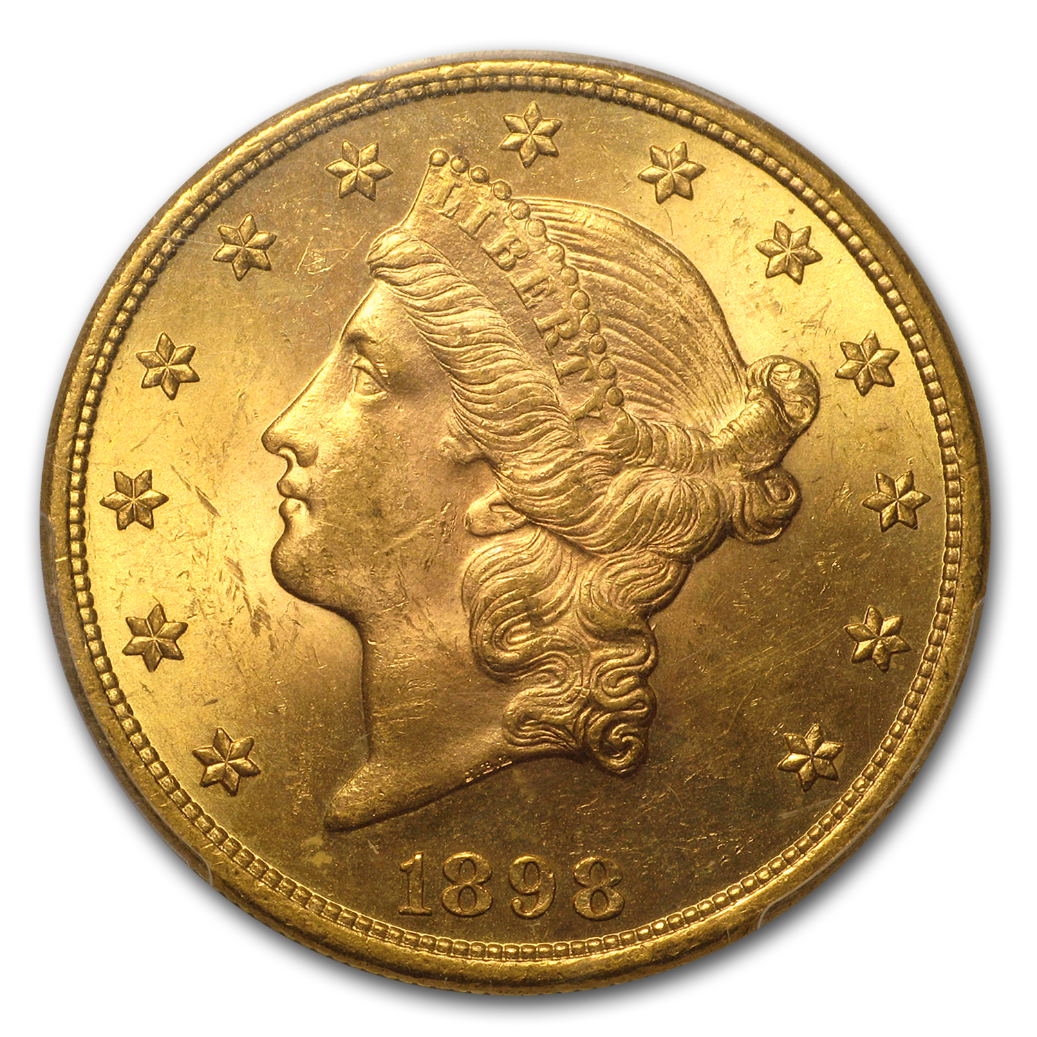 1898 $20 Liberty Gold Double Eagle MS-63 PCGS