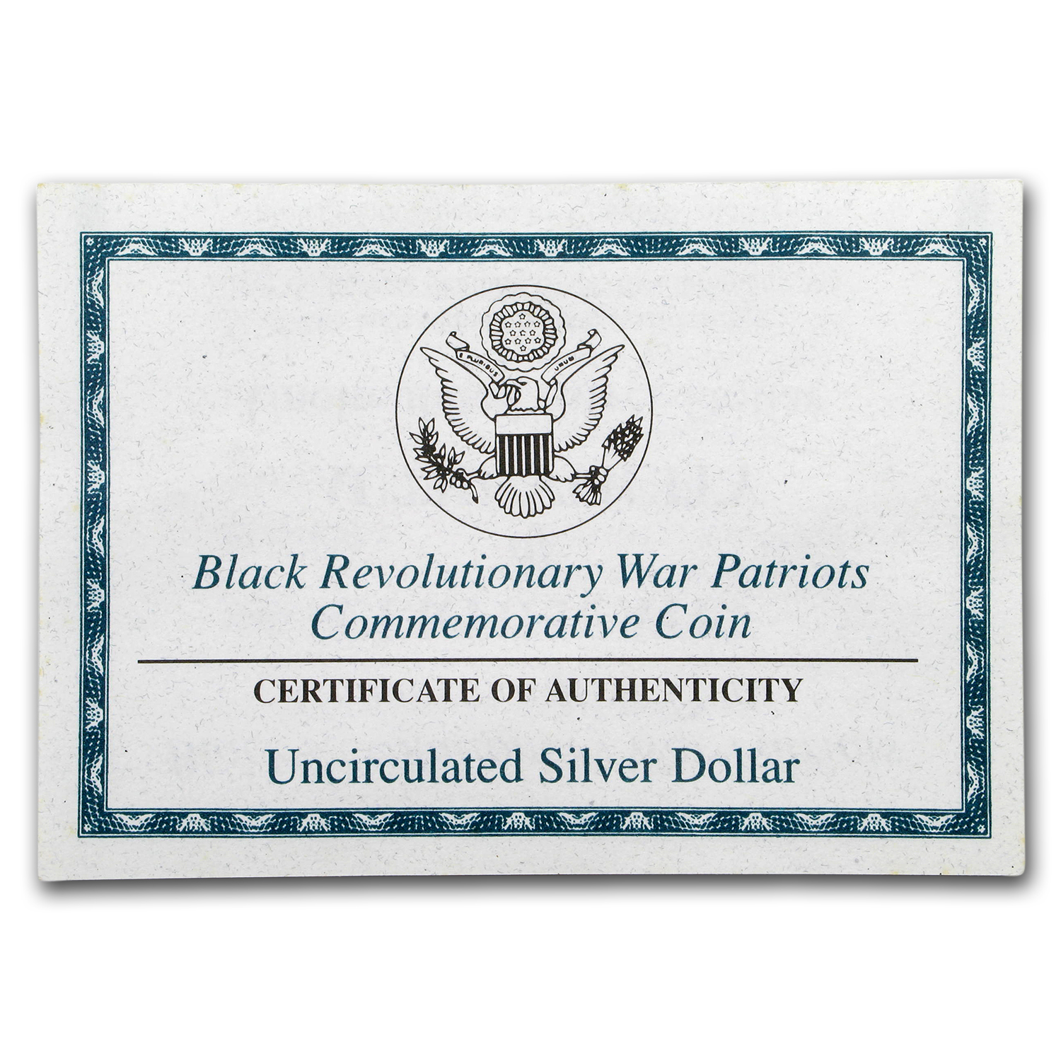 OGP Box & COA - 1998 2-Coin Rev. War Black Patriots PF/UNC Set