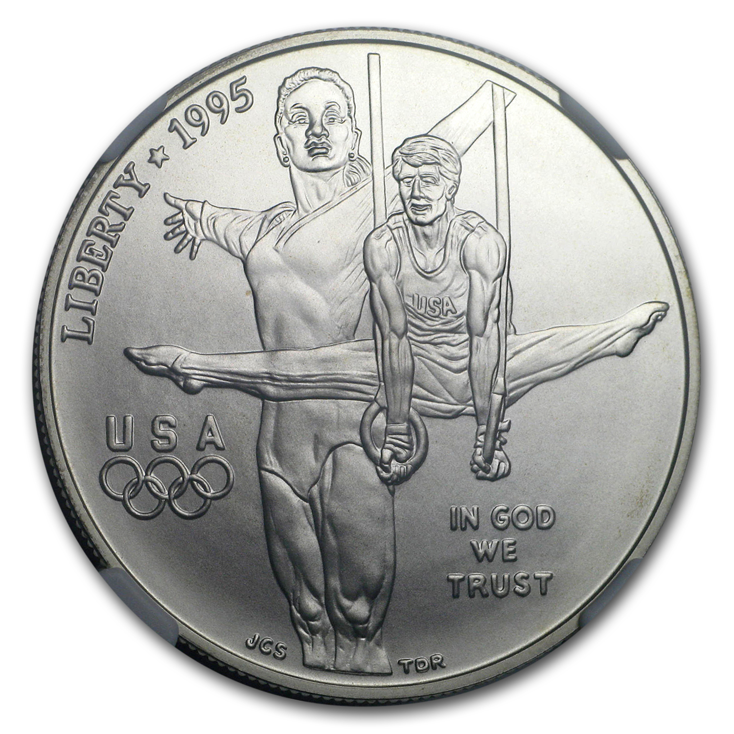 1995-D Olympic Gymnast $1 Silver Commem MS-70 NGC