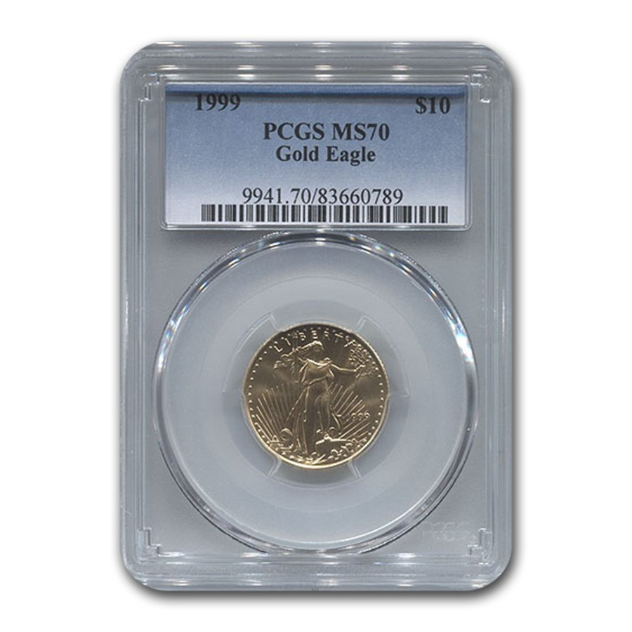 1999 1/4 oz Gold American Eagle MS-70 PCGS