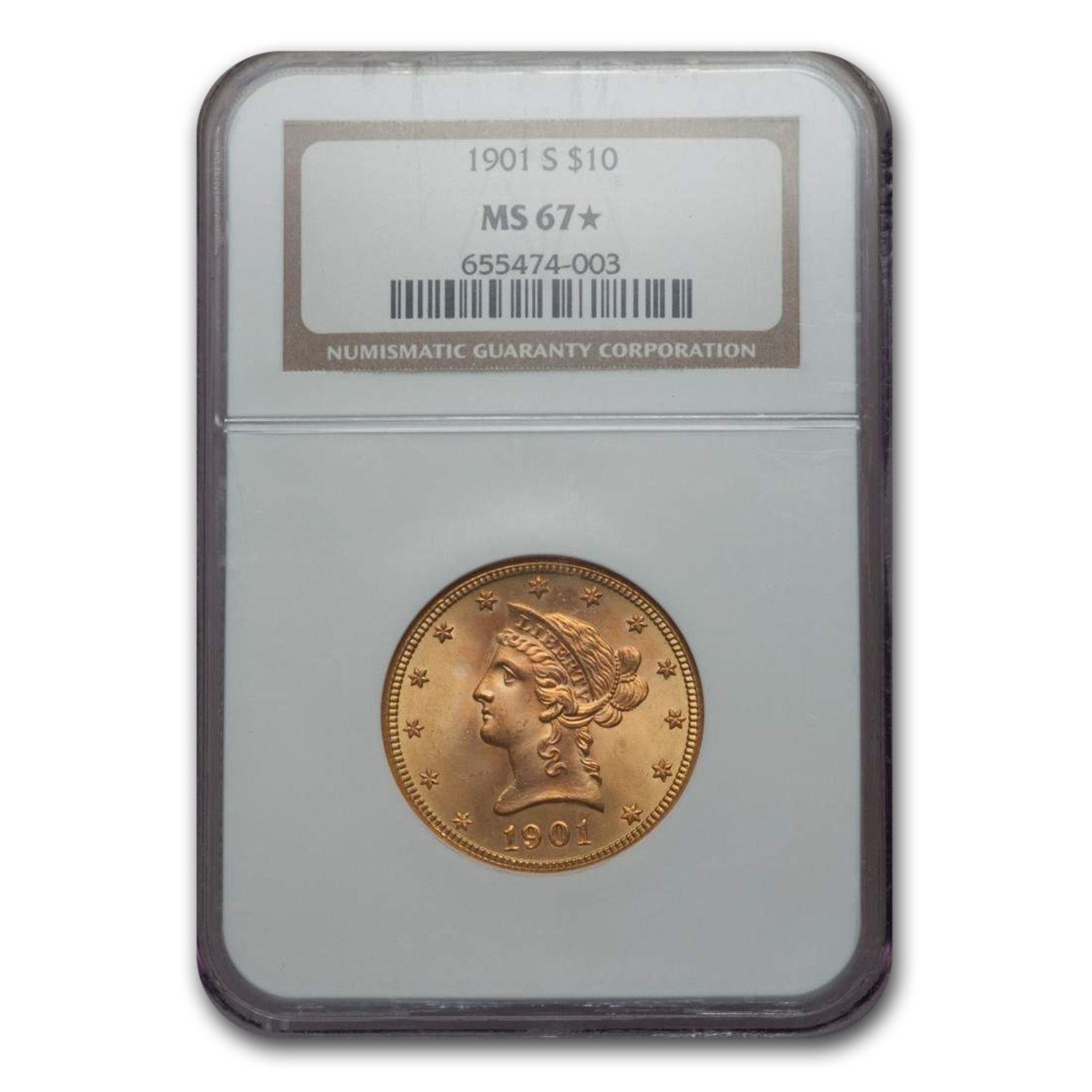 1901-S $10 Liberty Gold Eagle MS-67* NGC