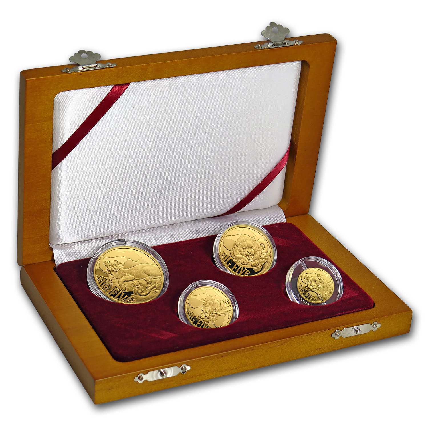 2017 Cameroon 4-Coin Gold Leopard Proof Set (The Big Five)