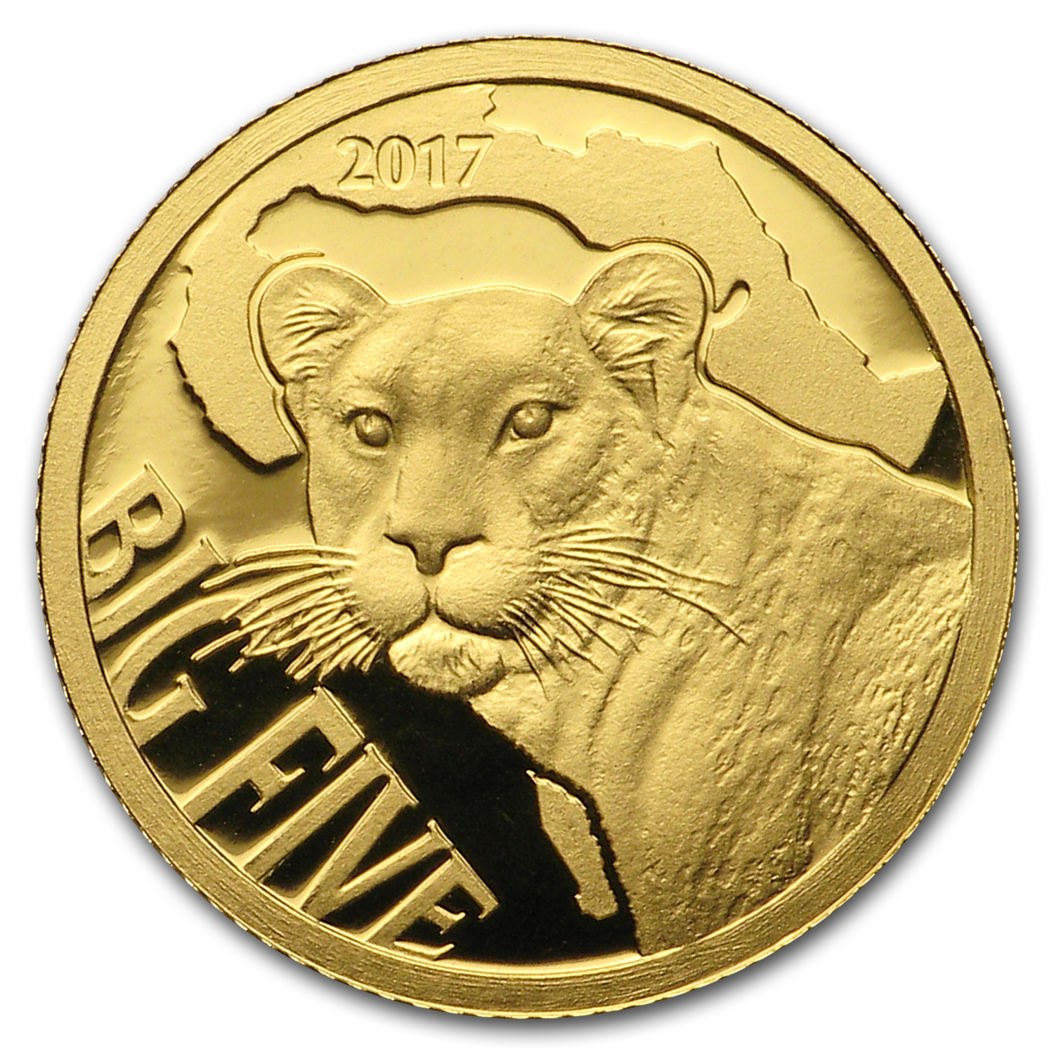 2017 Cameroon 1/2 gram Gold Leopard Proof (The Big Five)