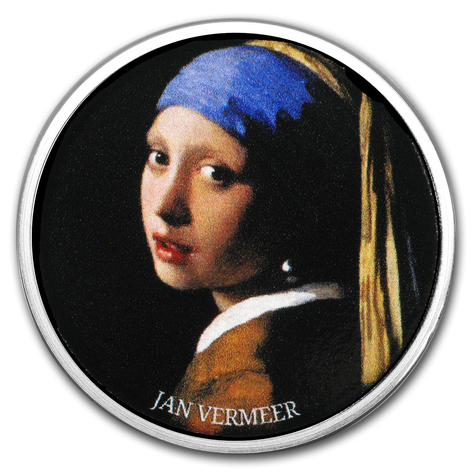2017 Cameroon Silver European Painting (Girl with Pearl Earring)