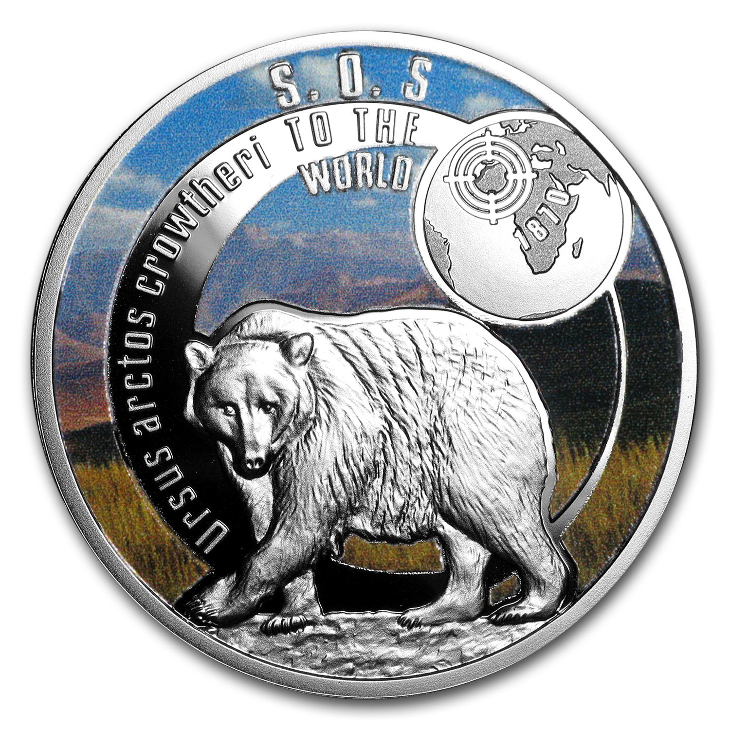 2017 Niue Silver SOS For The World They are Gone! (Atlas Bear)