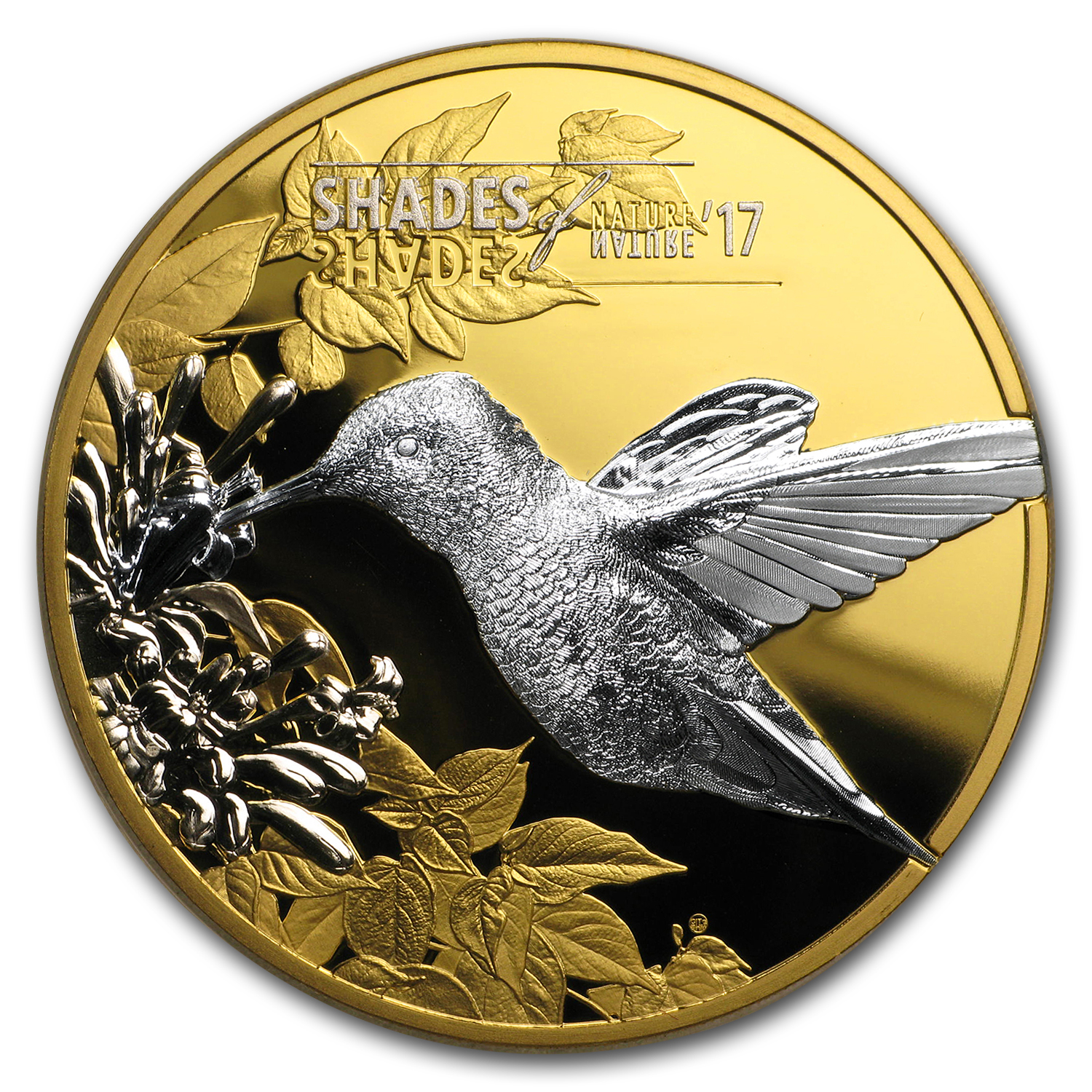 2017 Cook Islands Proof Silver $5 Shades of Nature Hummingbird