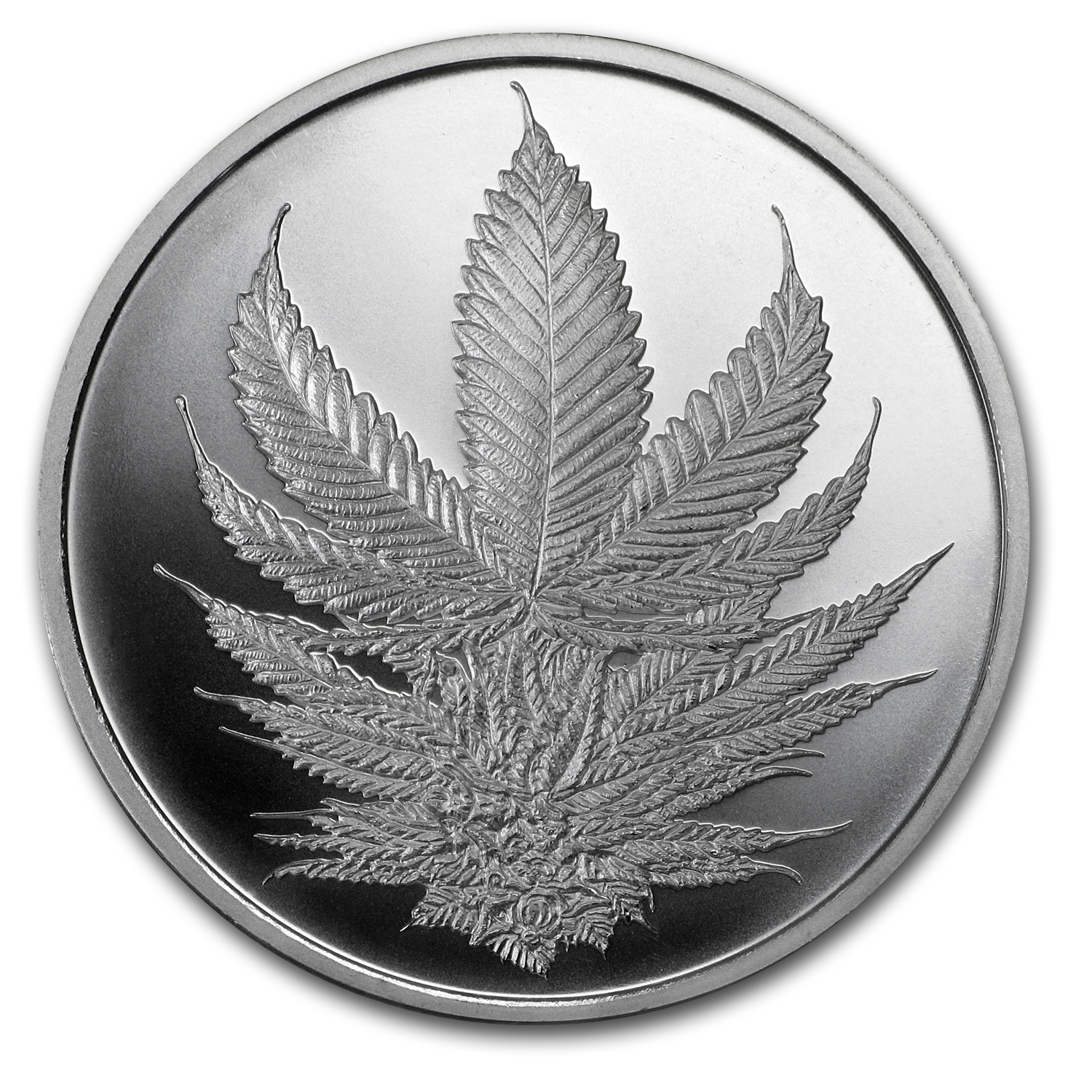 2017 1 oz Silver Shield Round - MiniMintage (King Cannabis)