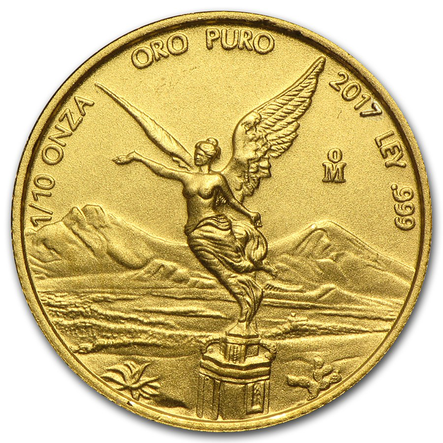 2017 Mexico 1/10 oz Gold Libertad BU