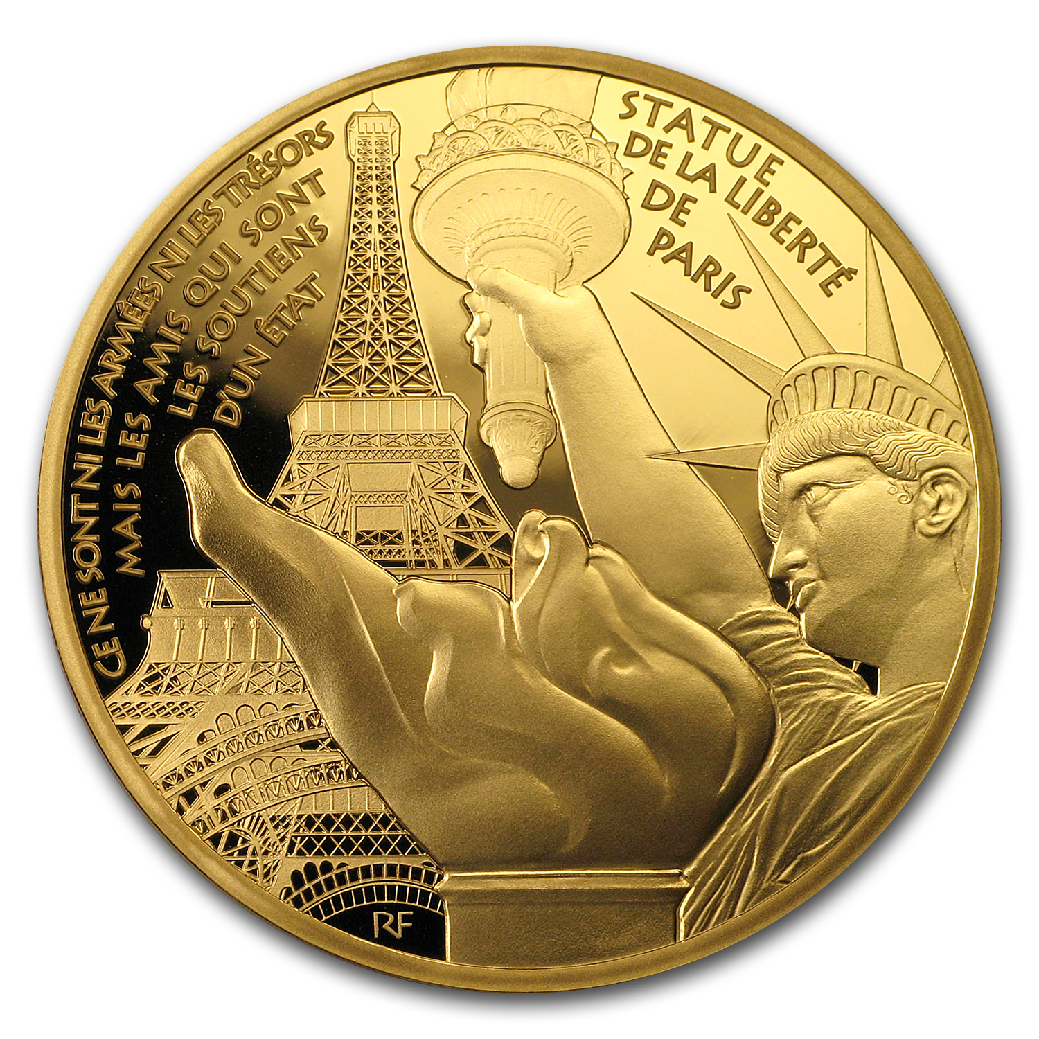 2017 1 oz Prf Gold €200 Treasures of Paris (Statue of Liberty)