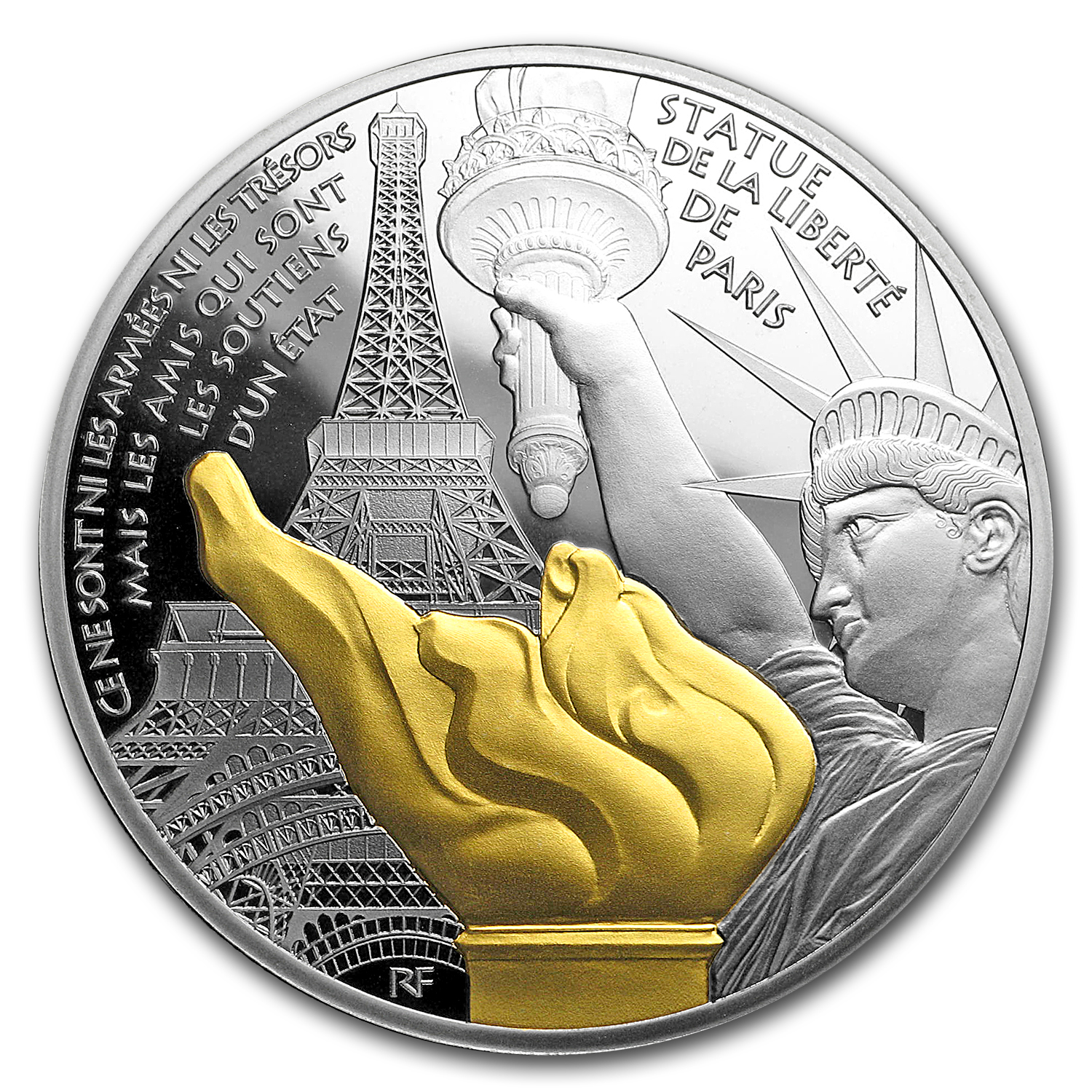 2017 Proof Silver €10 Treasures of Paris (Statue of Liberty)