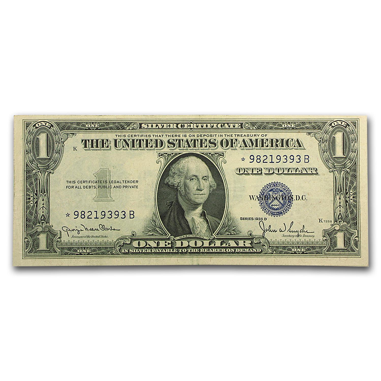 1935 D 1 00 Silver Certificate Xf 1935 1 Silver