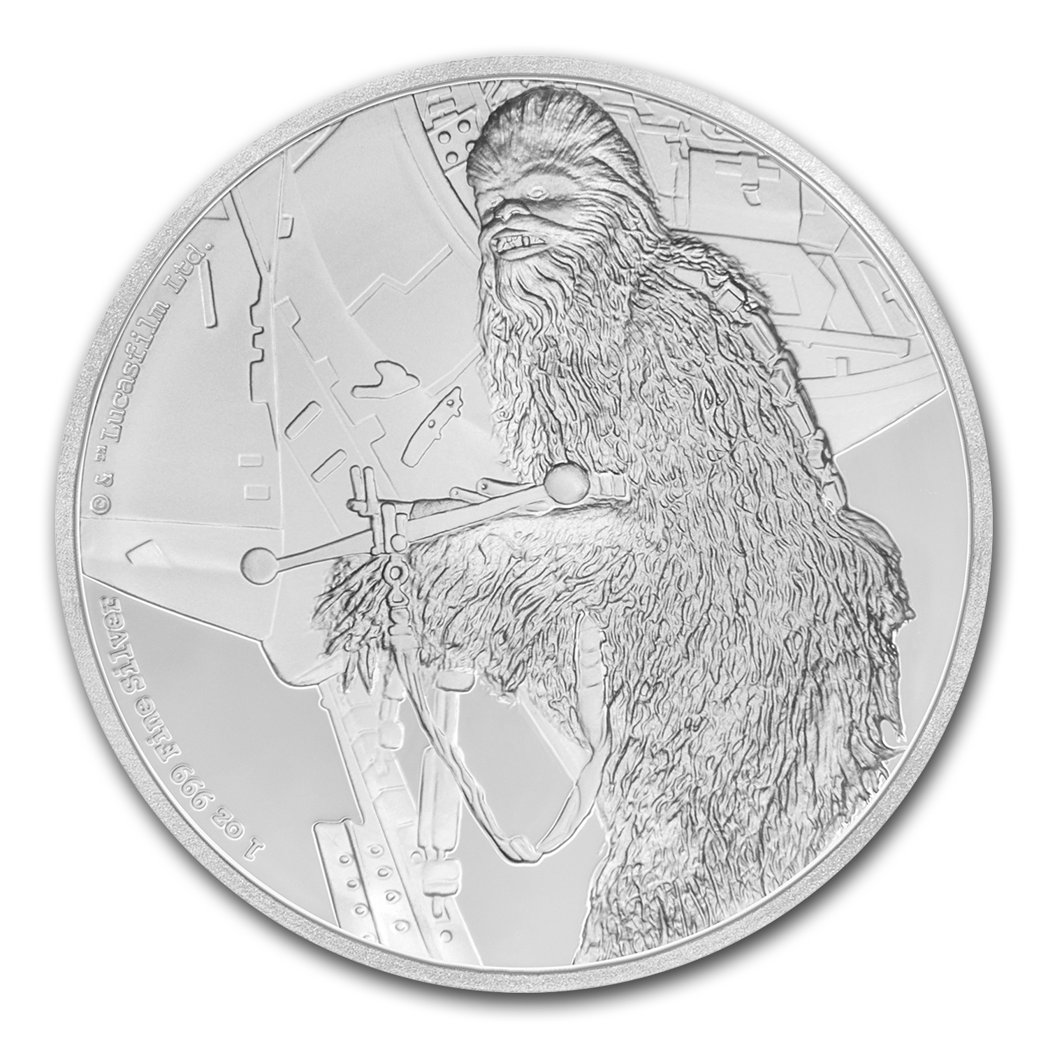 2017 Niue 1 oz Silver $2 Star Wars Chewbacca Proof (w/Box & COA)