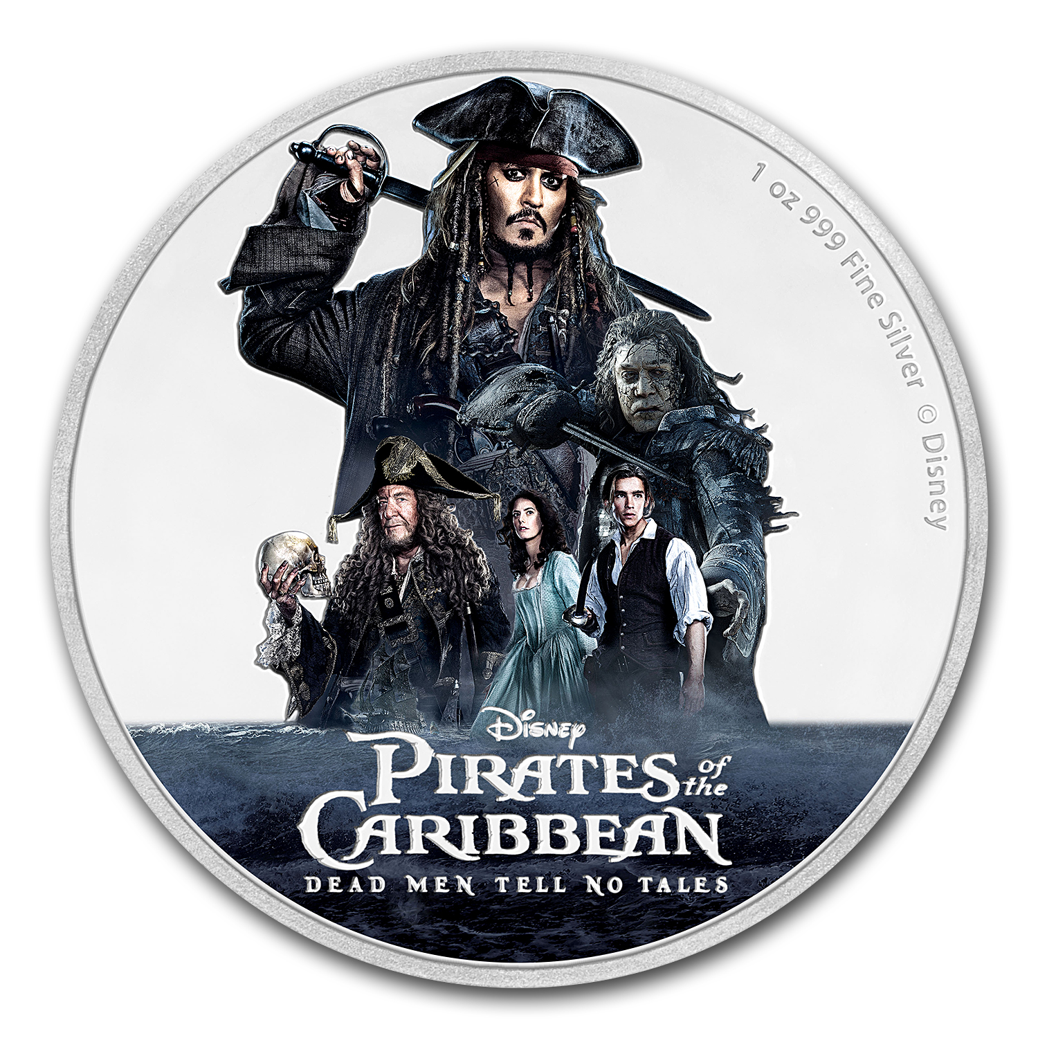 2017 Niue 1 oz Silver $2 Disney Pirates of the Caribbean