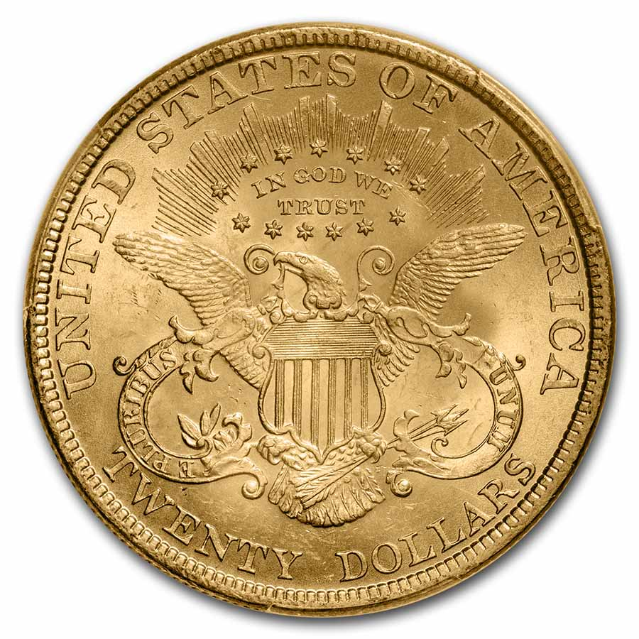 1893 $20 Liberty Gold Double Eagle MS-63 PCGS
