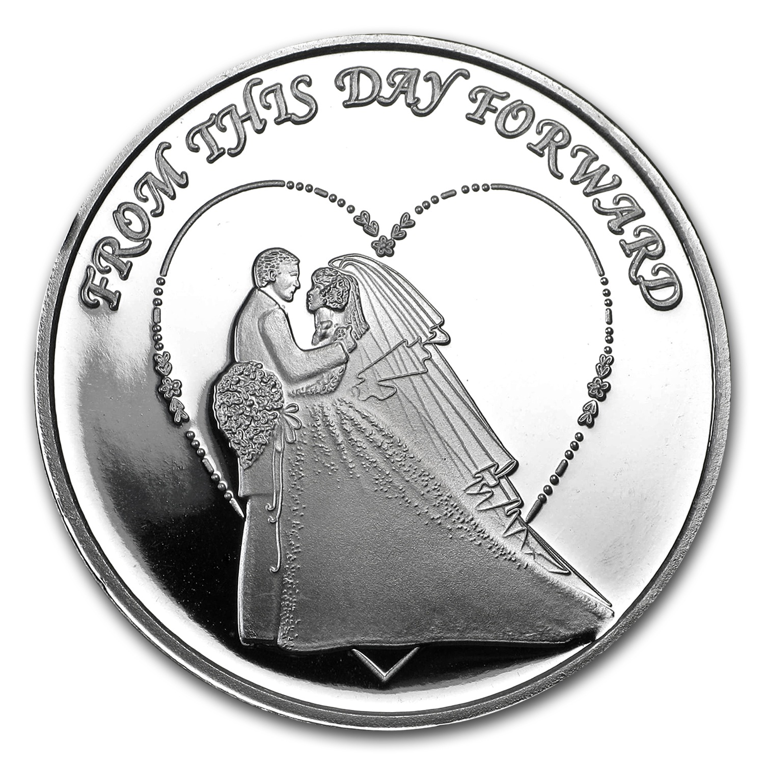 1 oz Silver Round - 2017 Wedding
