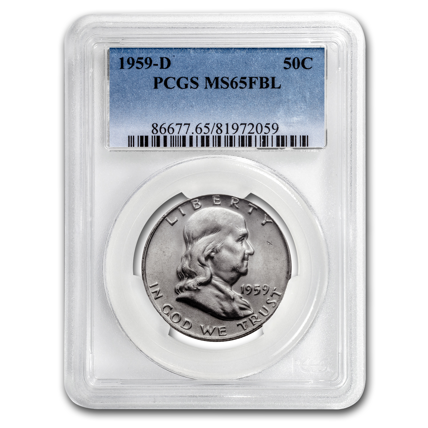 1959-D Franklin Half Dollar MS-65 PCGS (FBL)