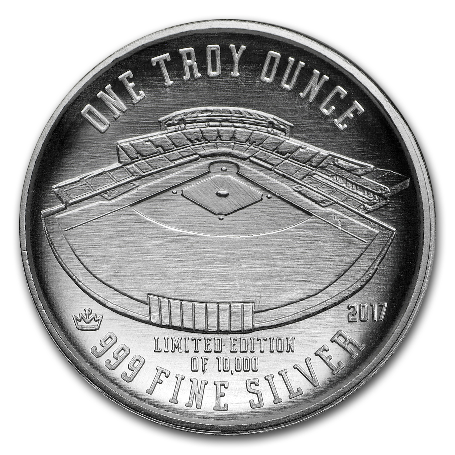 1 oz Silver Round - 2017 Domed Baseball