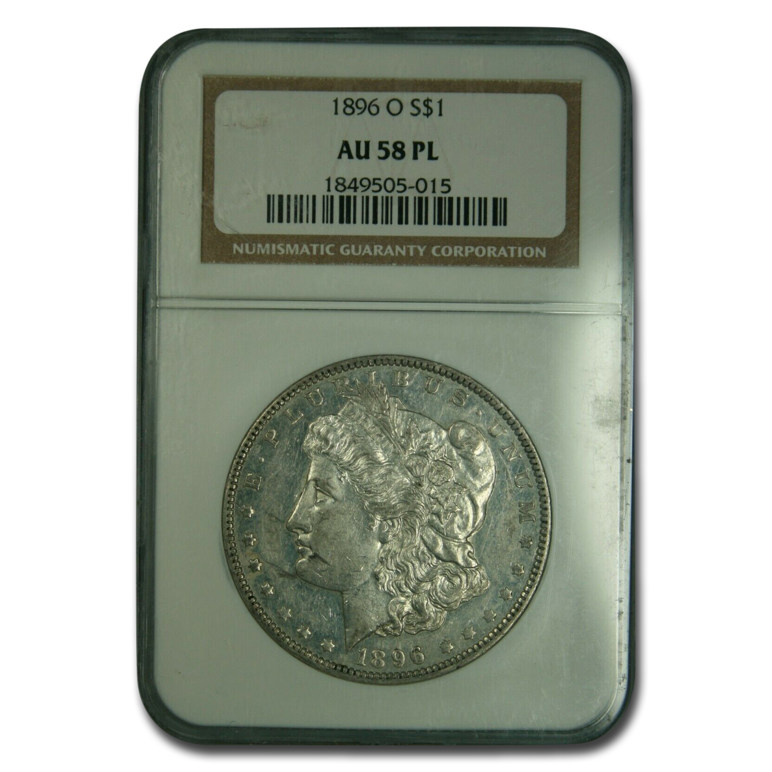 1896-O Morgan Dollar AU-58 NGC (PL)
