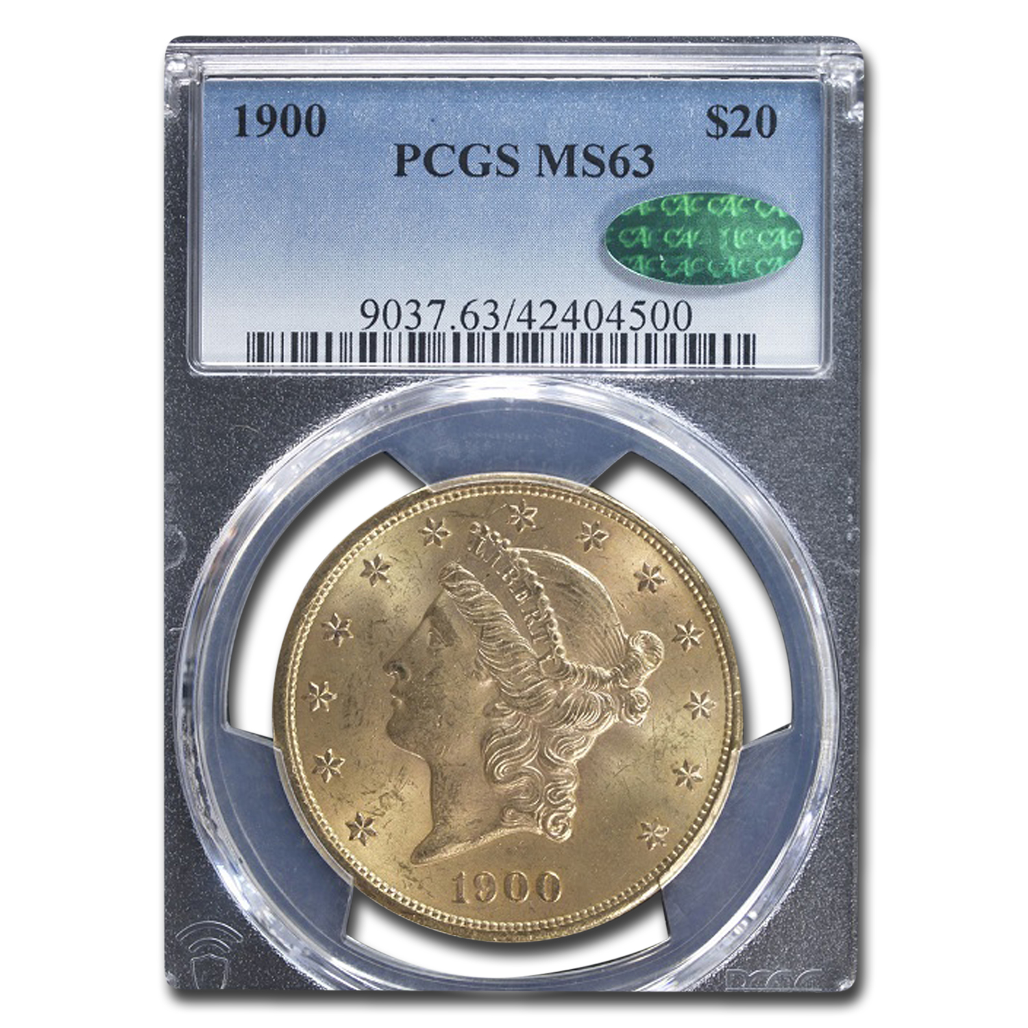 1900 $20 Liberty Gold Double Eagle MS-63 PCGS CAC